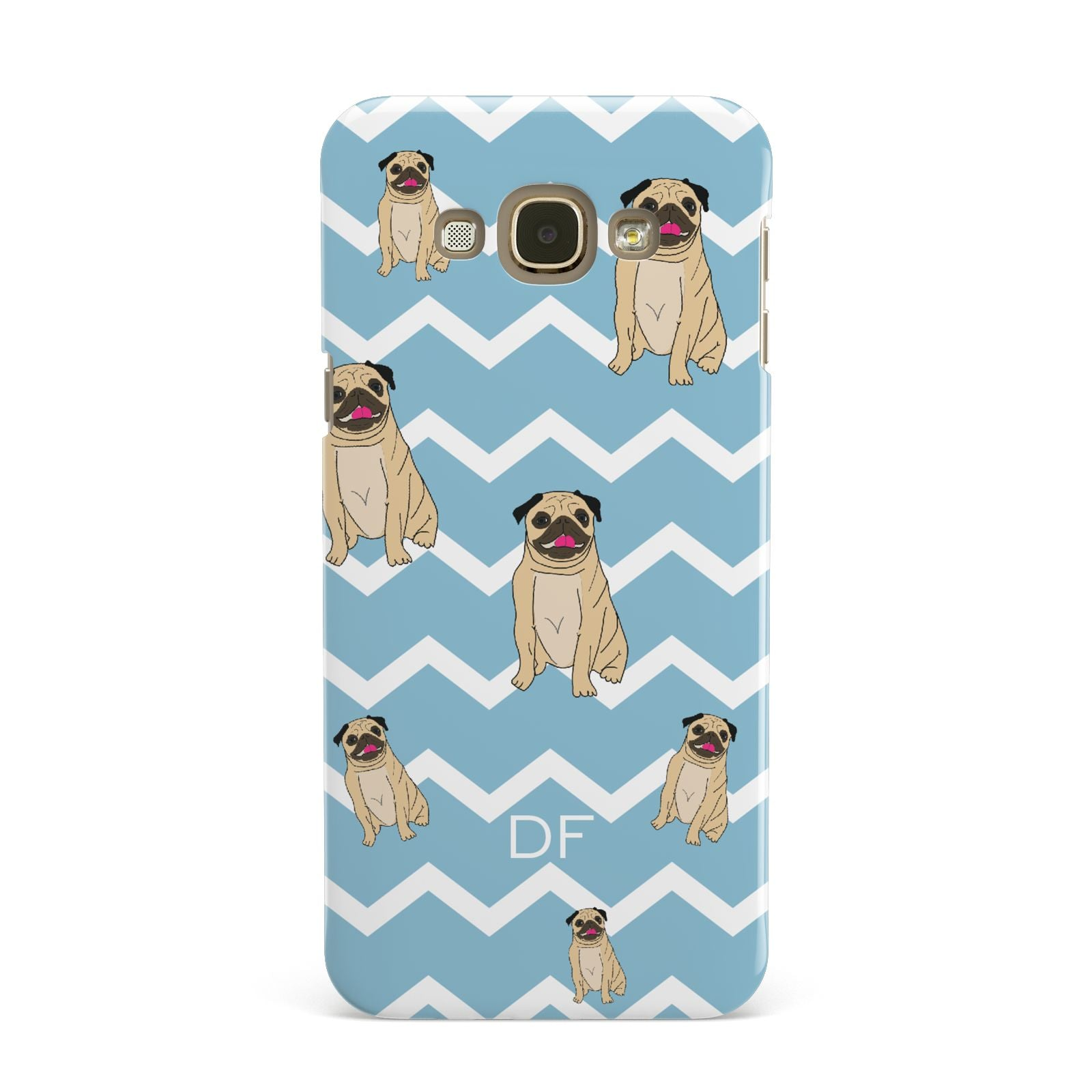 Personalised Pug Initials Samsung Galaxy A8 Case