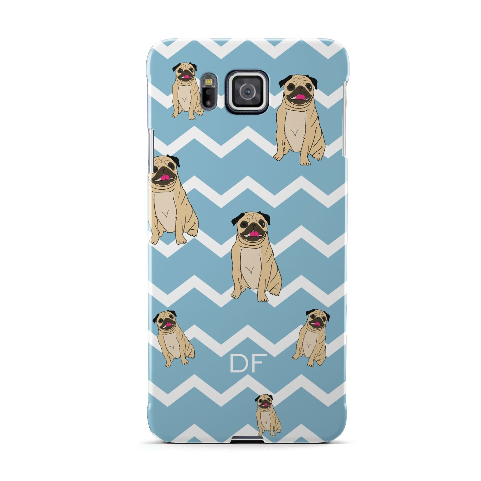 Personalised Pug Initials Samsung Galaxy Alpha Case