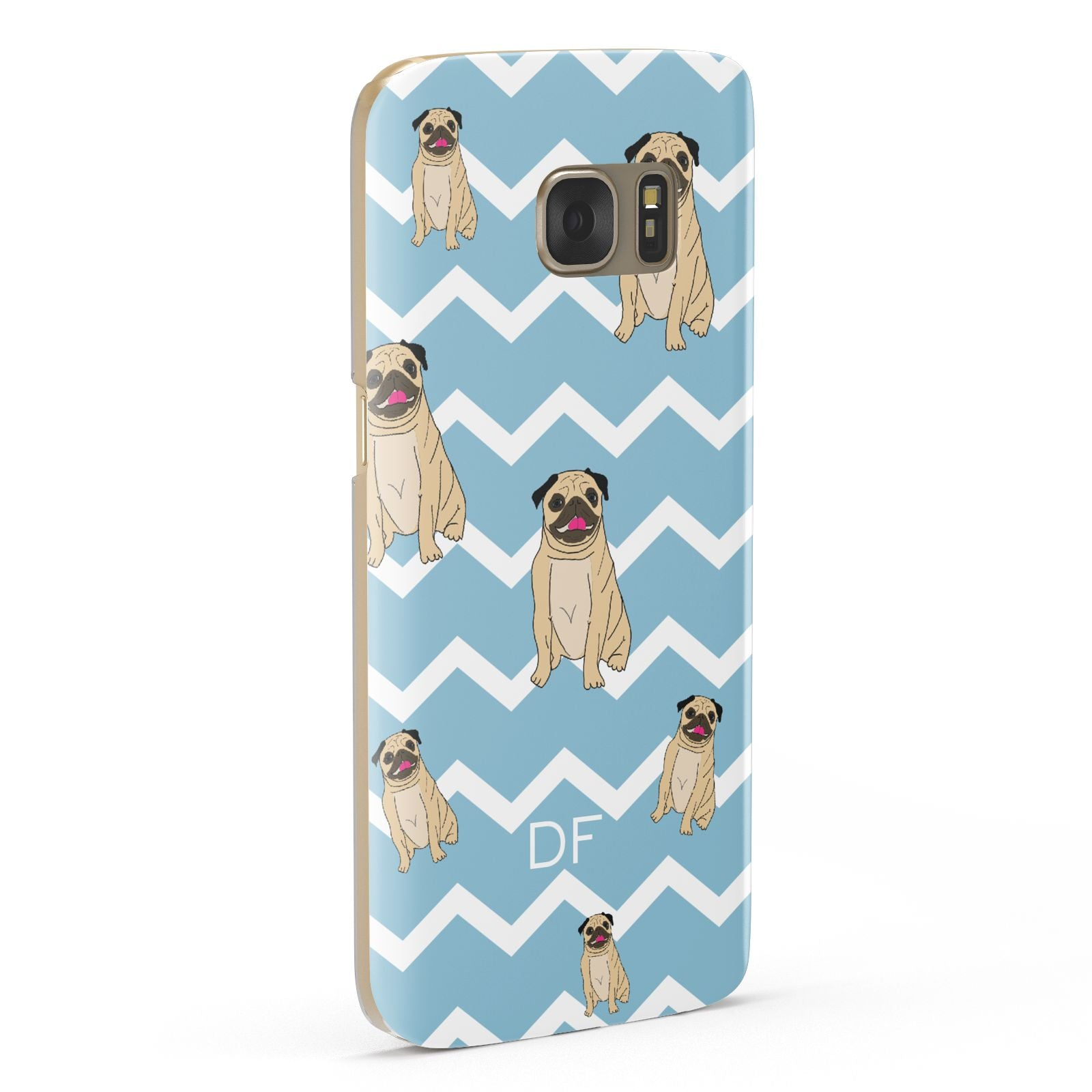 Personalised Pug Initials Samsung Galaxy Case Fourty Five Degrees