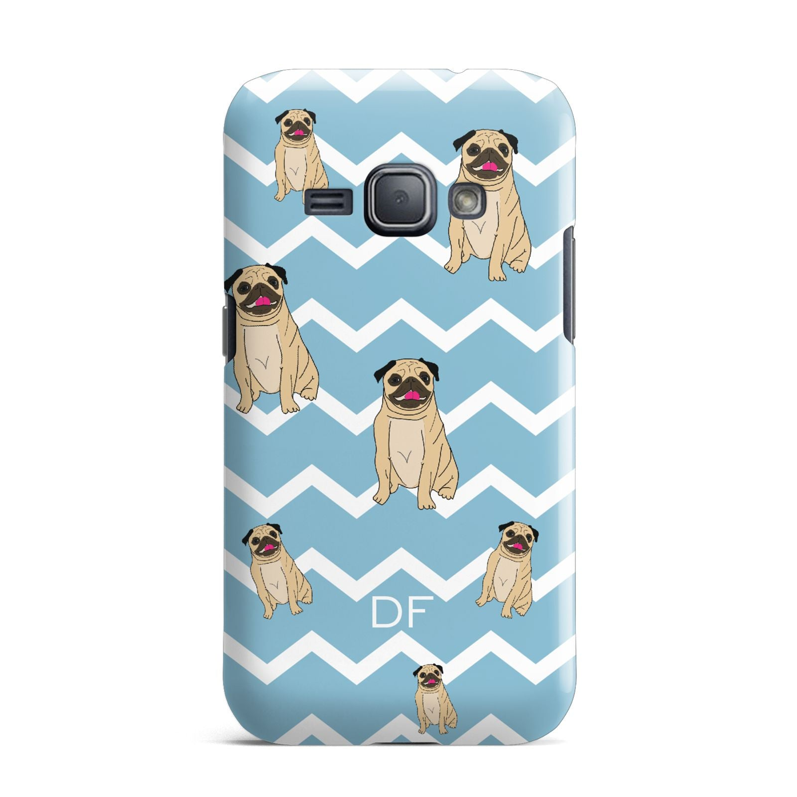 Personalised Pug Initials Samsung Galaxy J1 2016 Case
