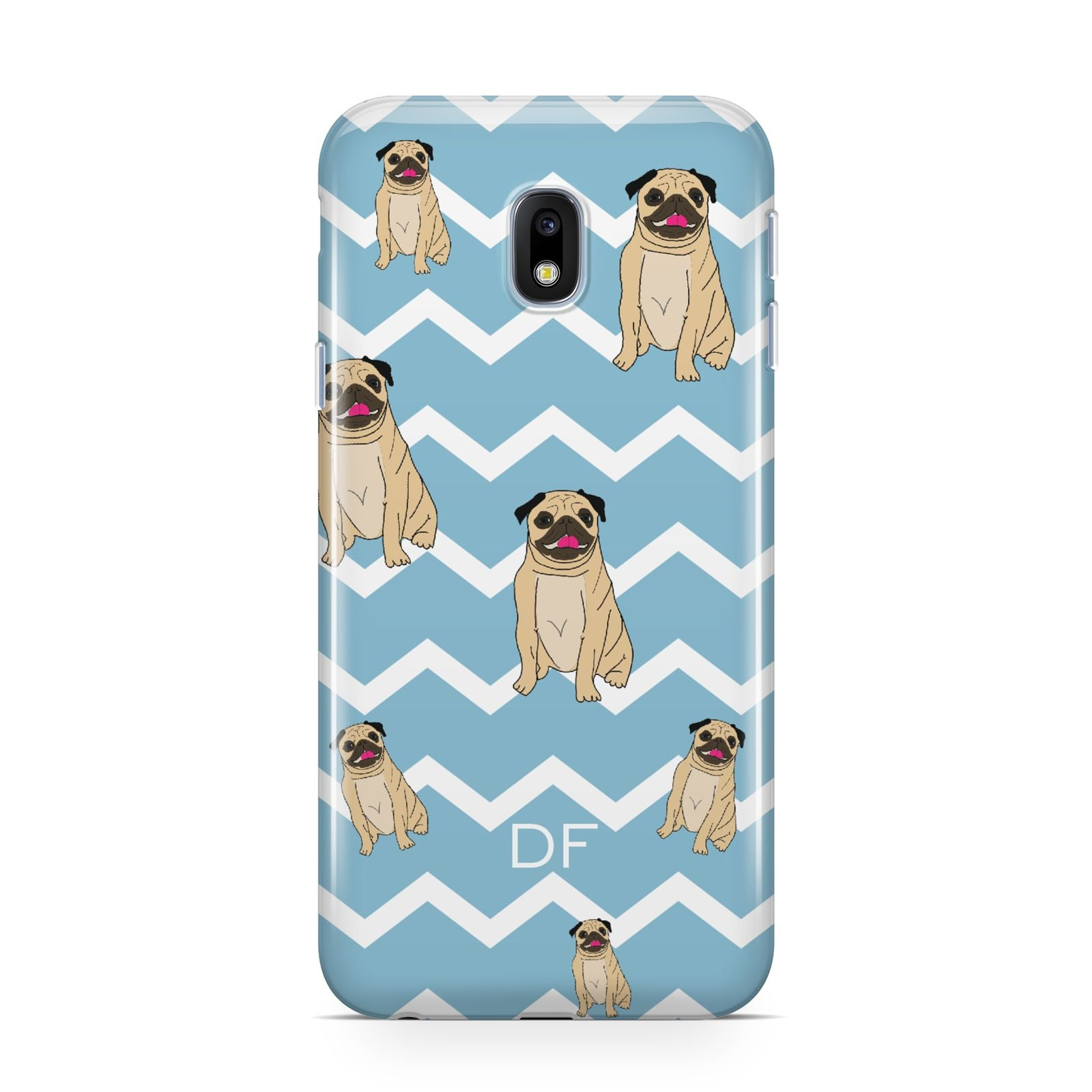 Personalised Pug Initials Samsung Galaxy J3 2017 Case