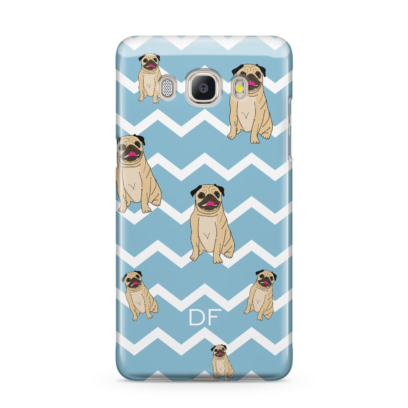 Personalised Pug Initials Samsung Galaxy J5 2016 Case
