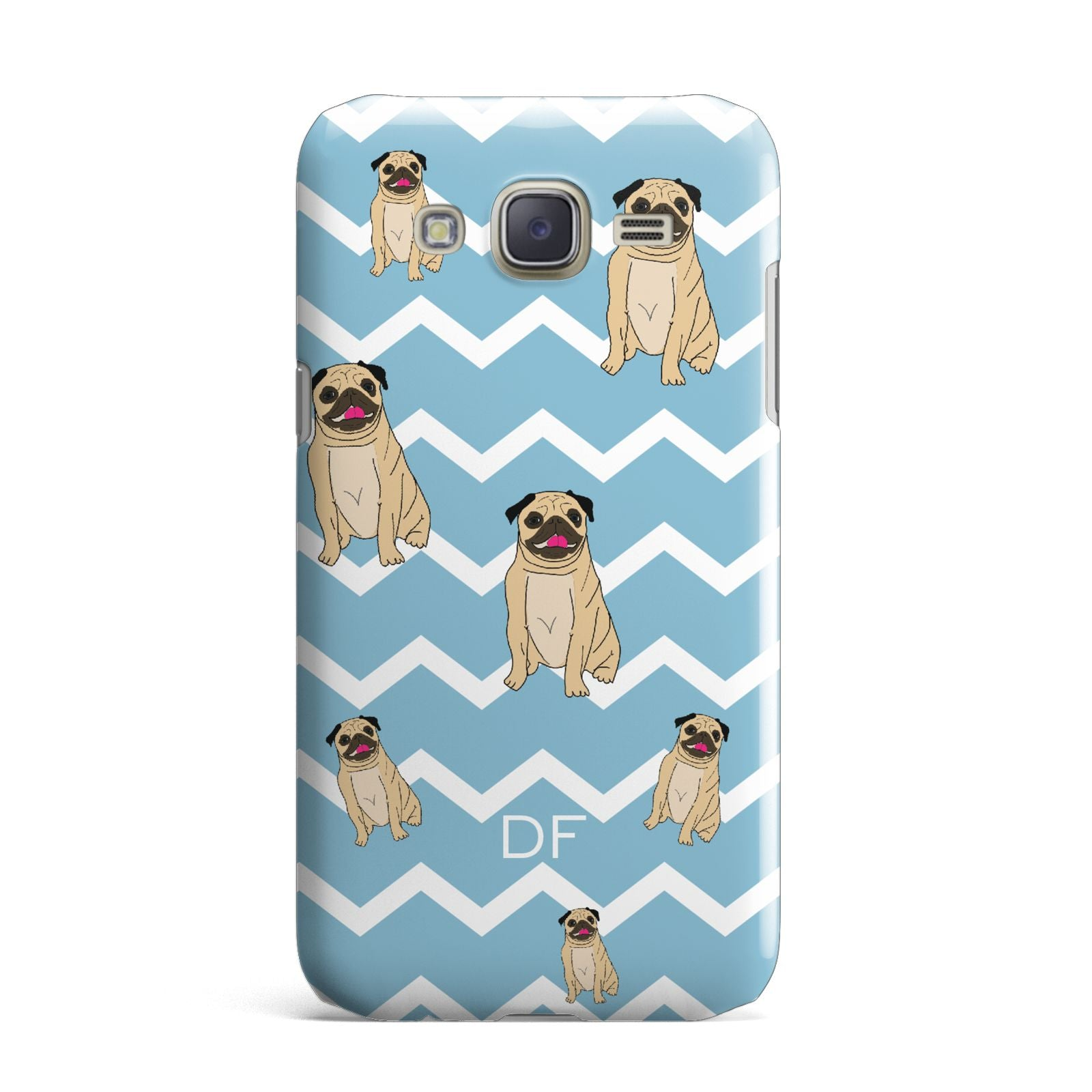 Personalised Pug Initials Samsung Galaxy J7 Case