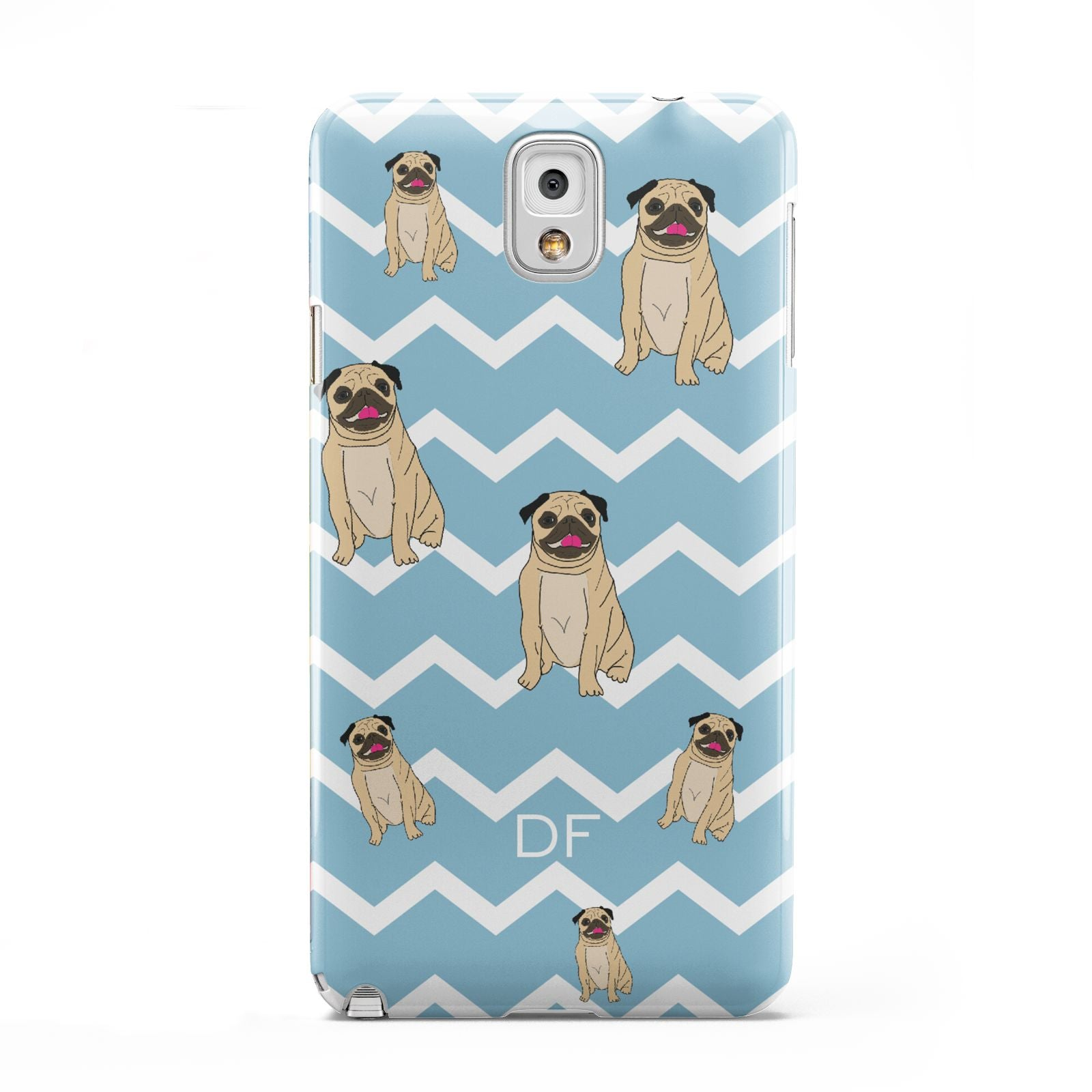Personalised Pug Initials Samsung Galaxy Note 3 Case