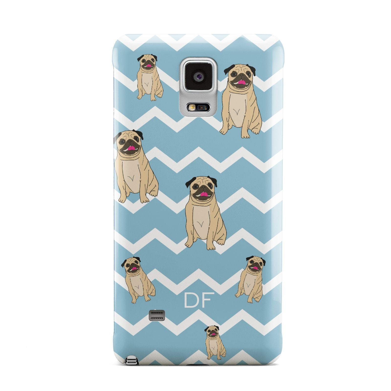 Personalised Pug Initials Samsung Galaxy Note 4 Case