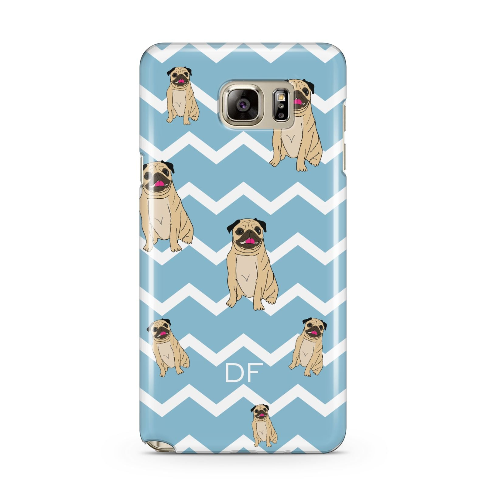 Personalised Pug Initials Samsung Galaxy Note 5 Case