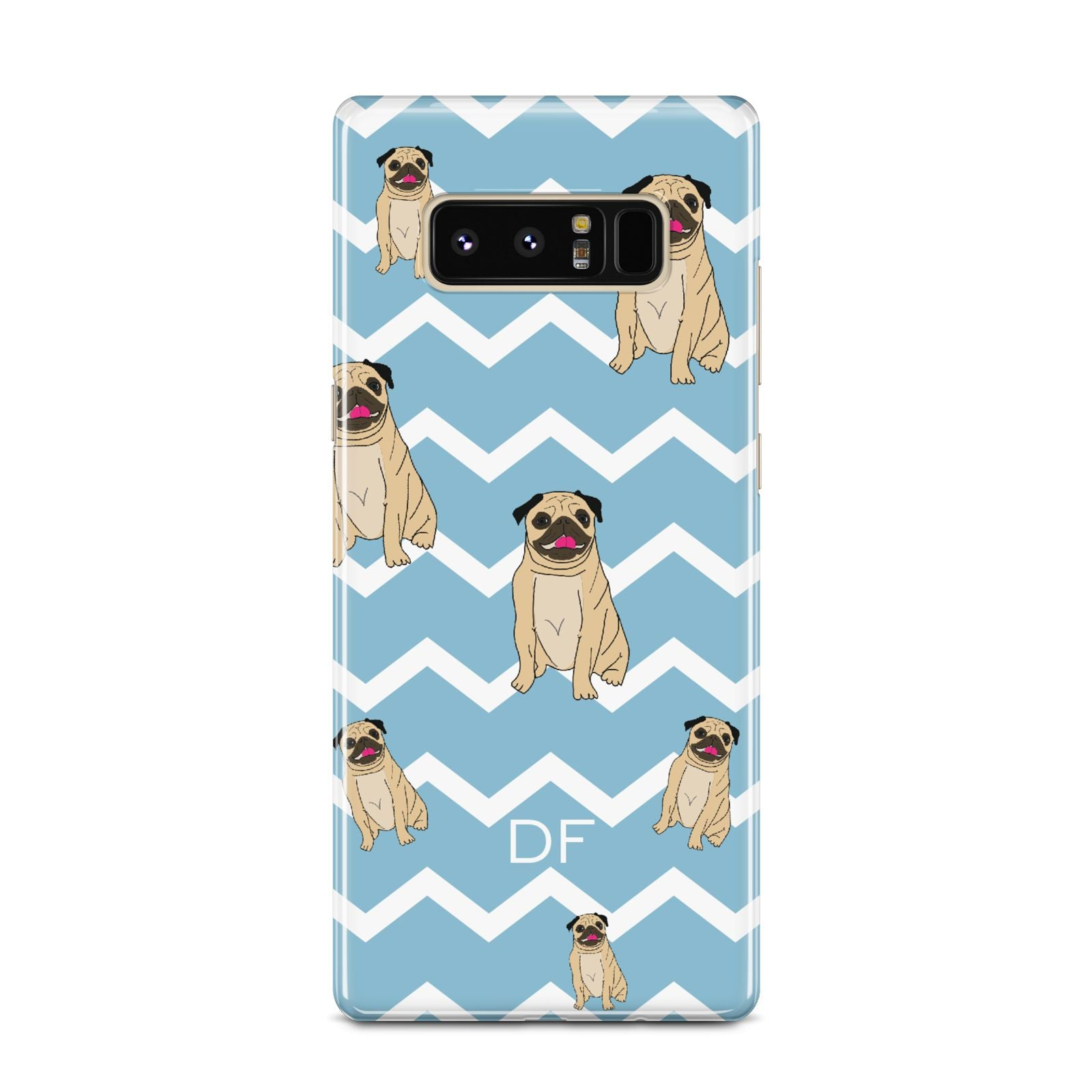 Personalised Pug Initials Samsung Galaxy Note 8 Case