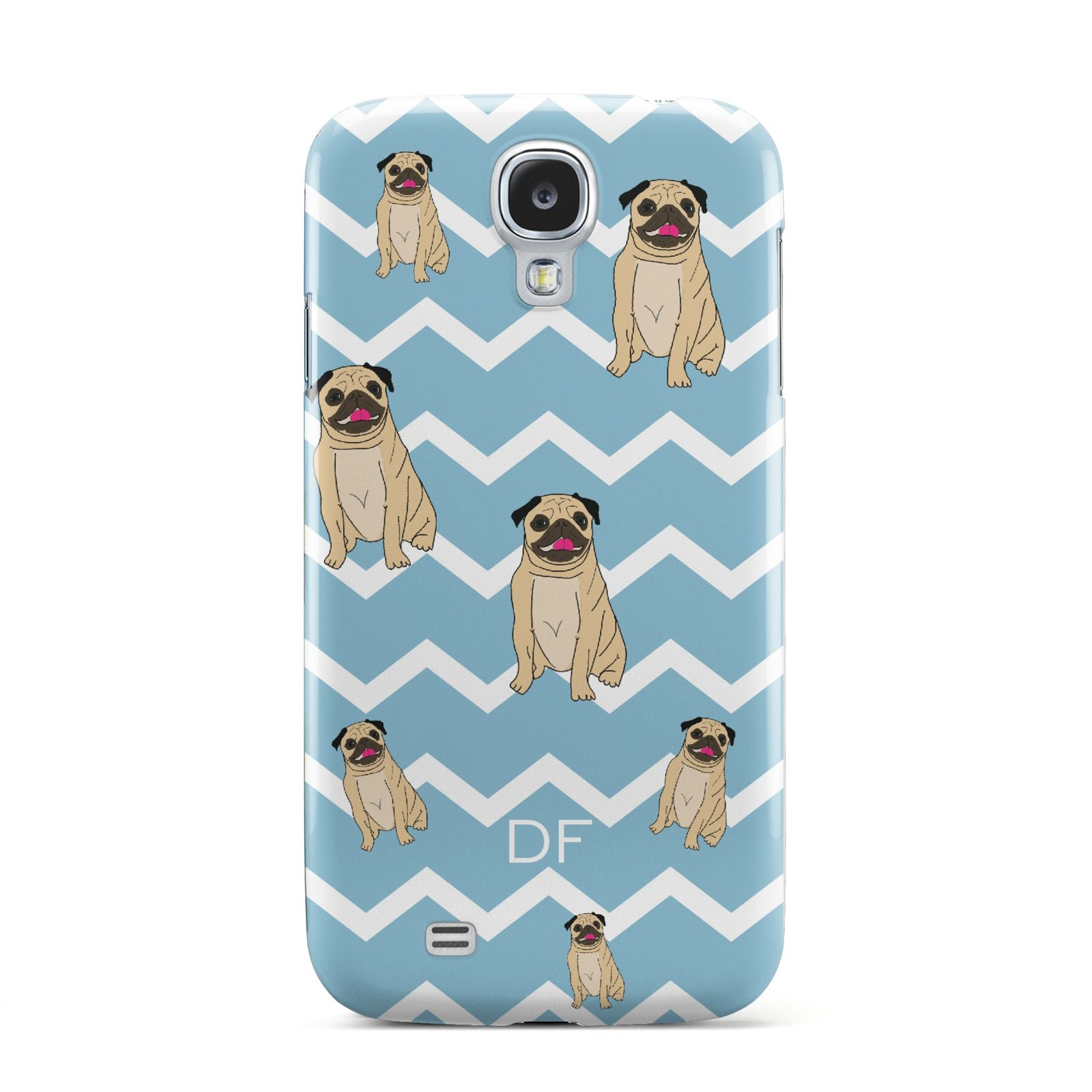 Personalised Pug Initials Samsung Galaxy S4 Case