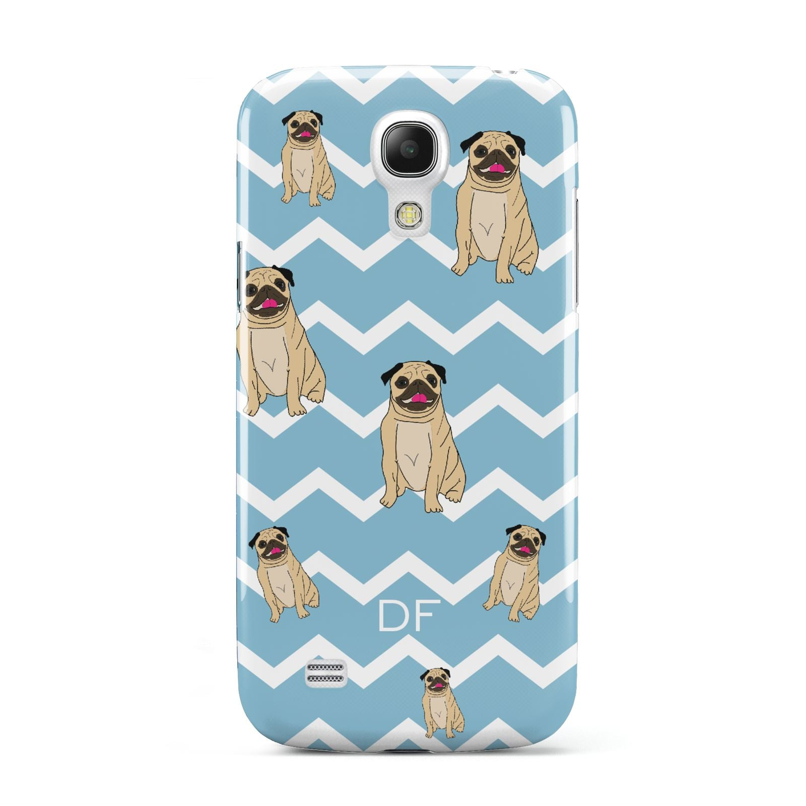 Personalised Pug Initials Samsung Galaxy S4 Mini Case