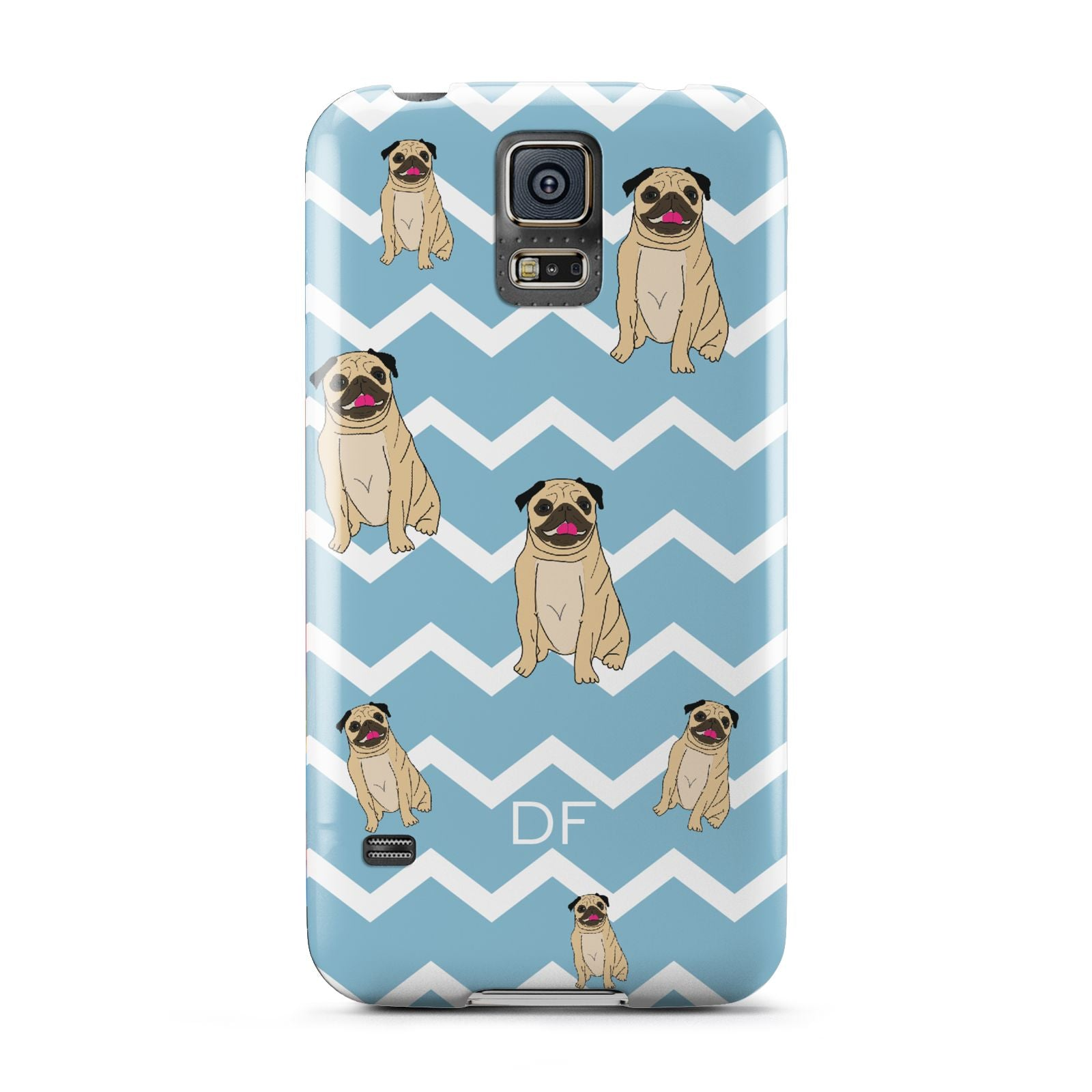 Personalised Pug Initials Samsung Galaxy S5 Case