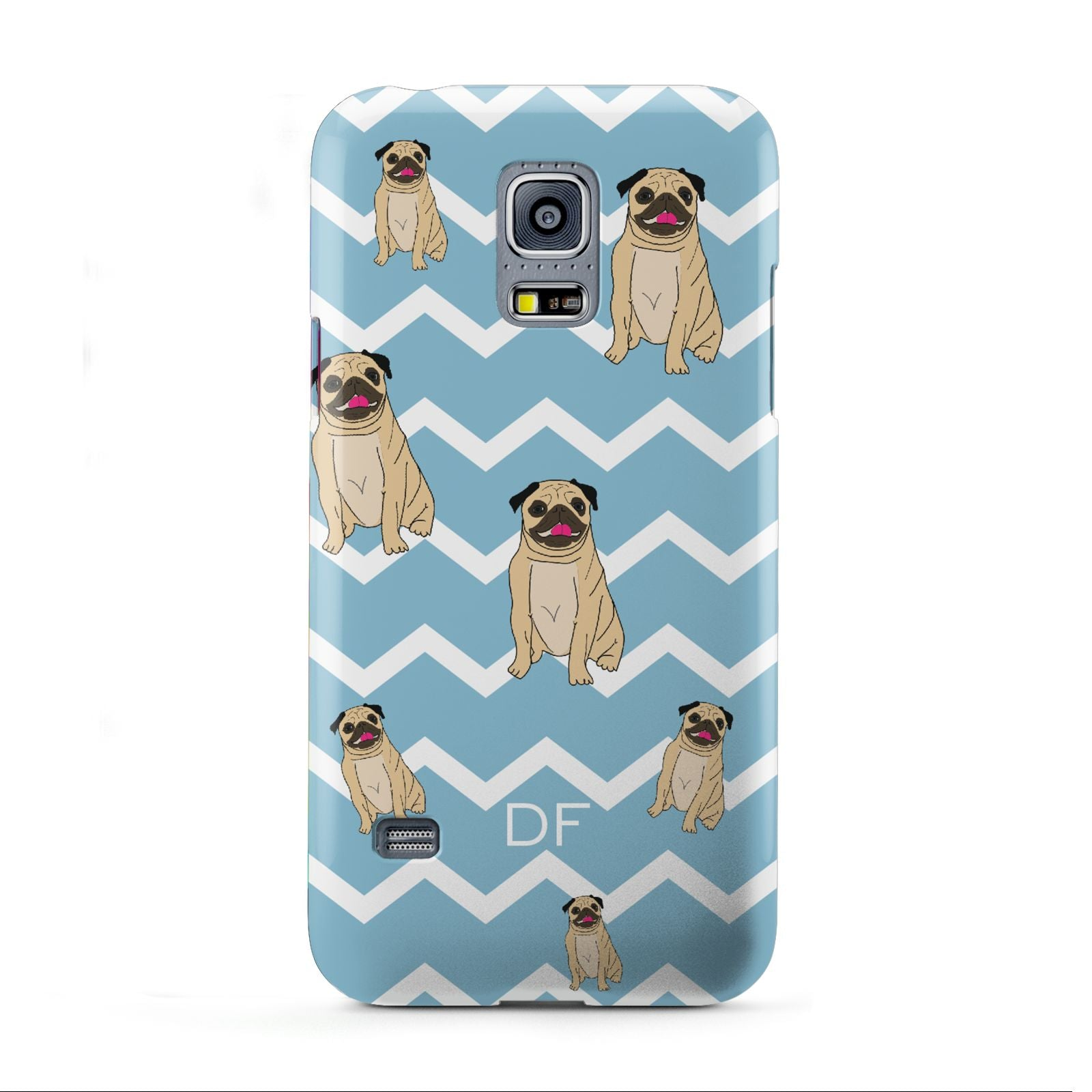 Personalised Pug Initials Samsung Galaxy S5 Mini Case