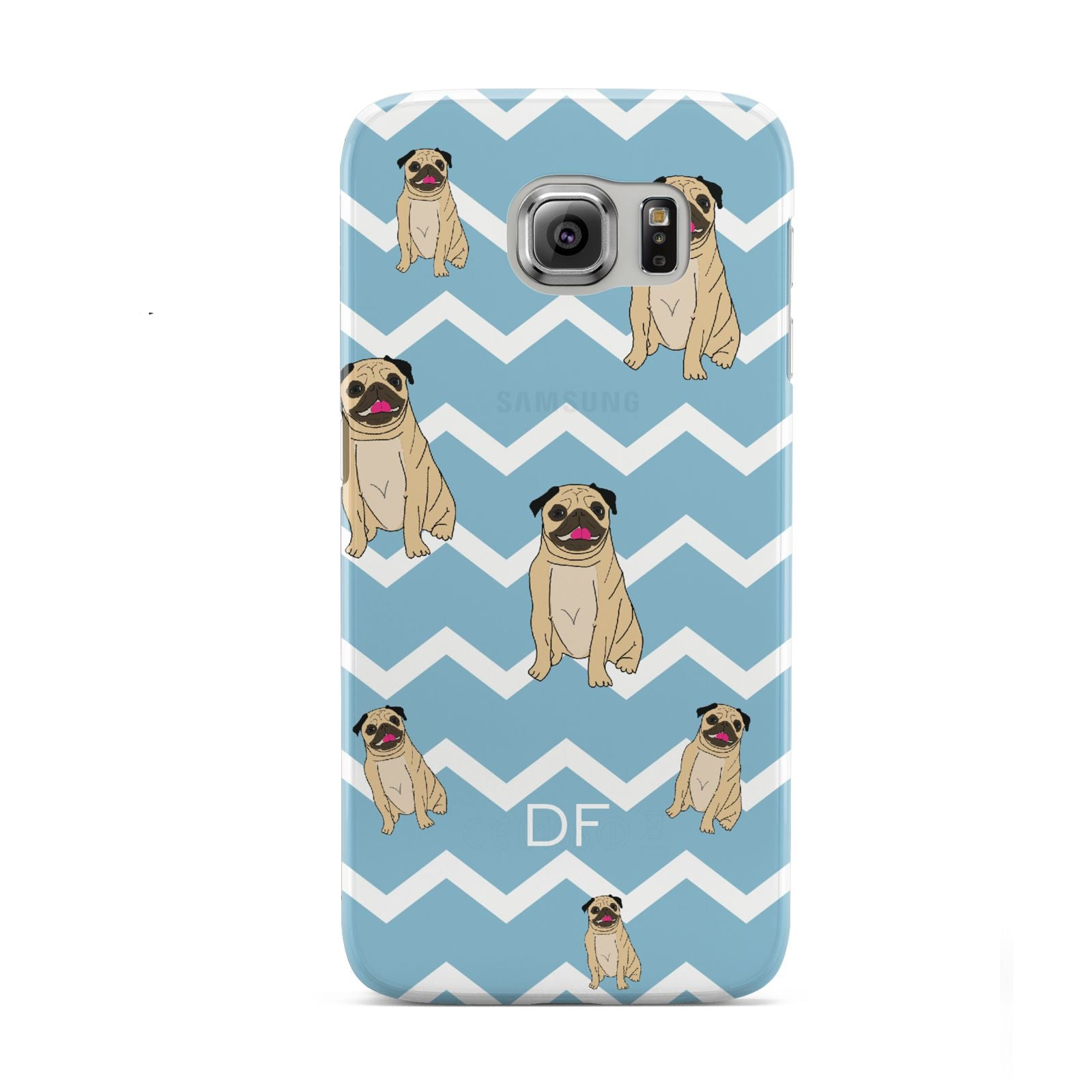 Personalised Pug Initials Samsung Galaxy S6 Case
