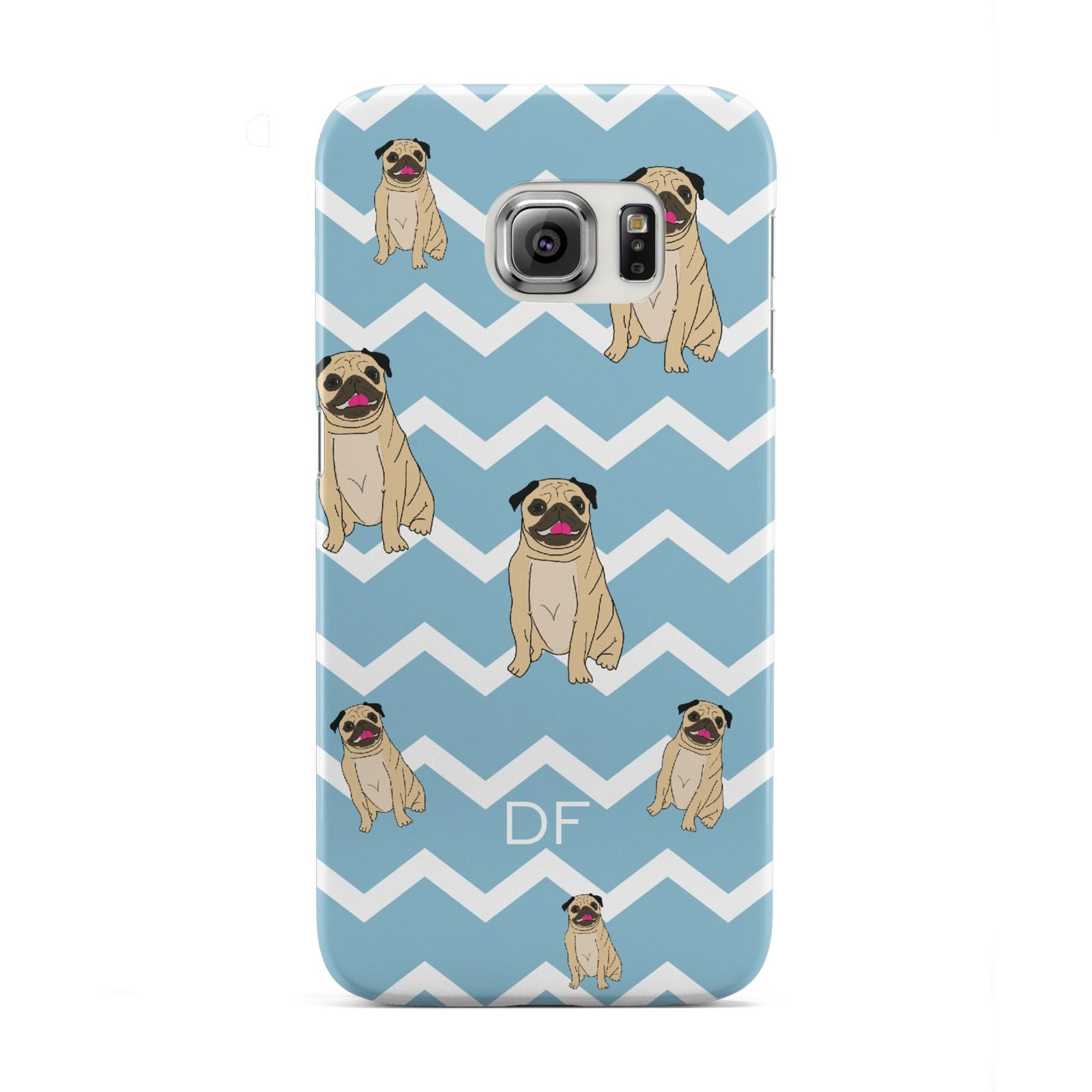 Personalised Pug Initials Samsung Galaxy S6 Edge Case