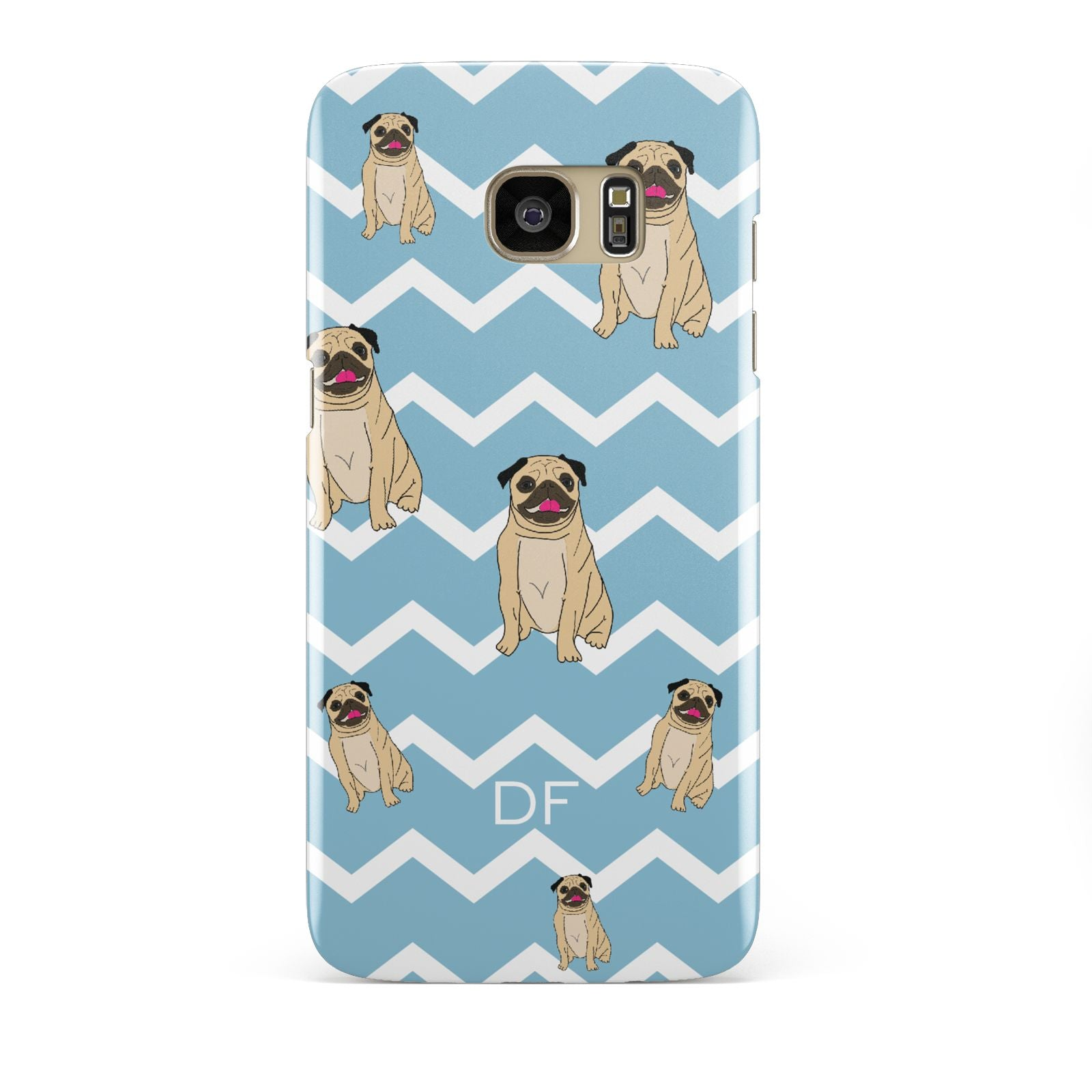 Personalised Pug Initials Samsung Galaxy S7 Edge Case