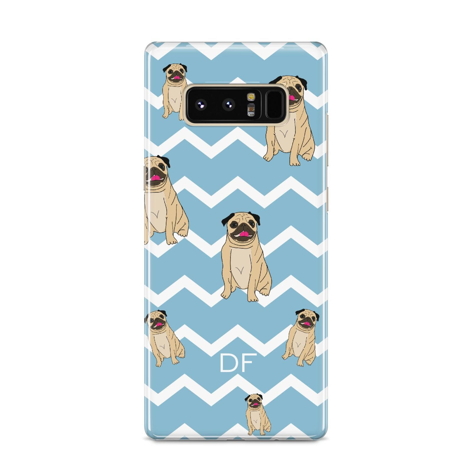 Personalised Pug Initials Samsung Galaxy S8 Case