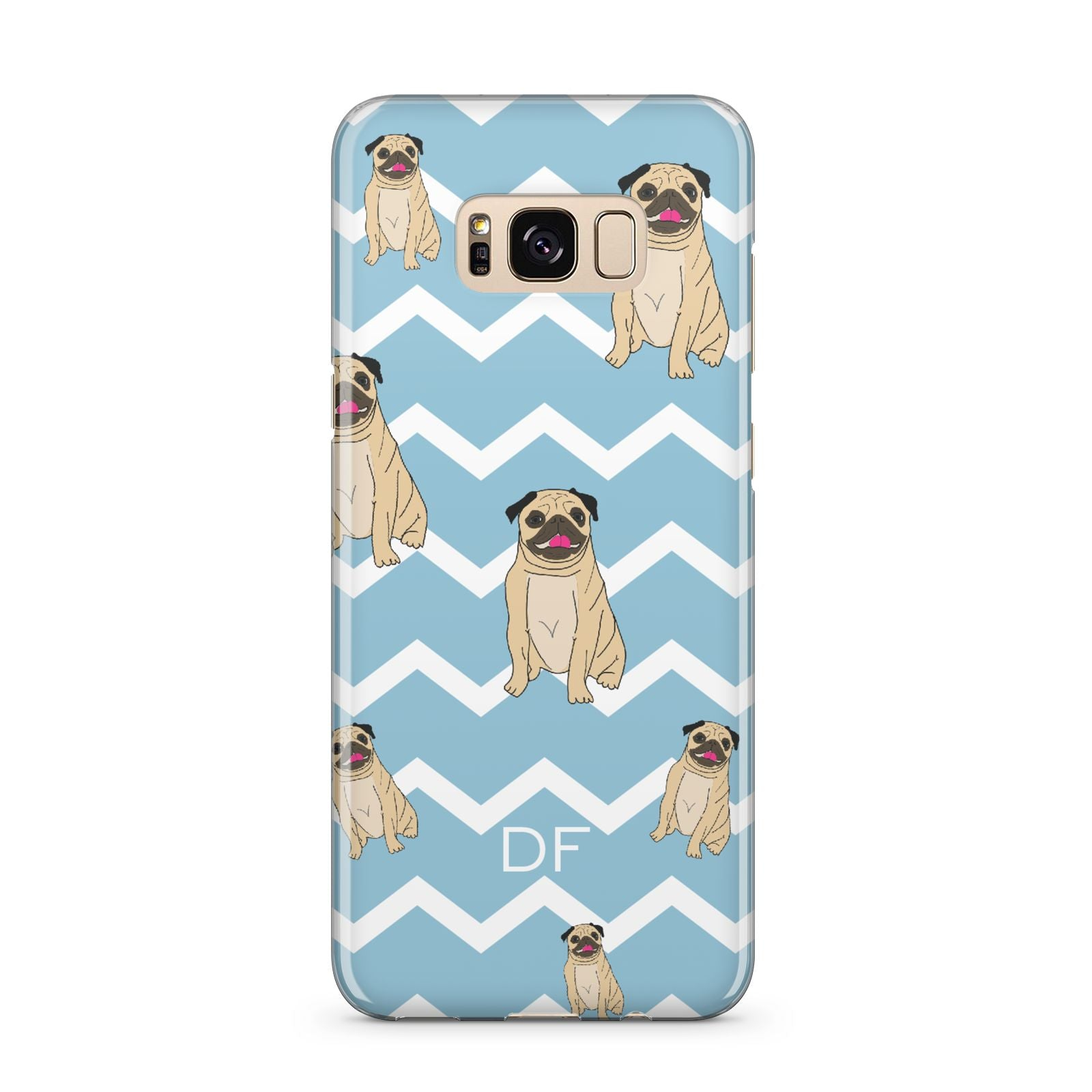 Personalised Pug Initials Samsung Galaxy S8 Plus Case