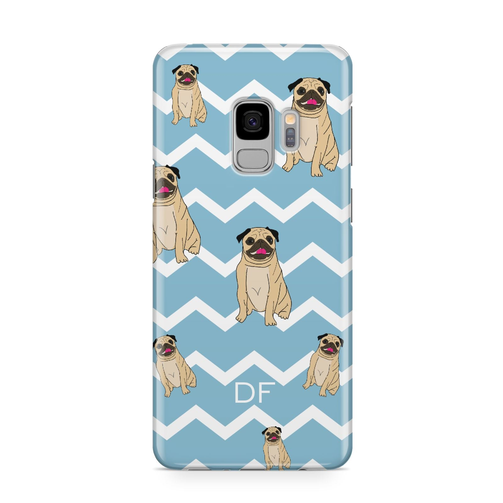 Personalised Pug Initials Samsung Galaxy S9 Case