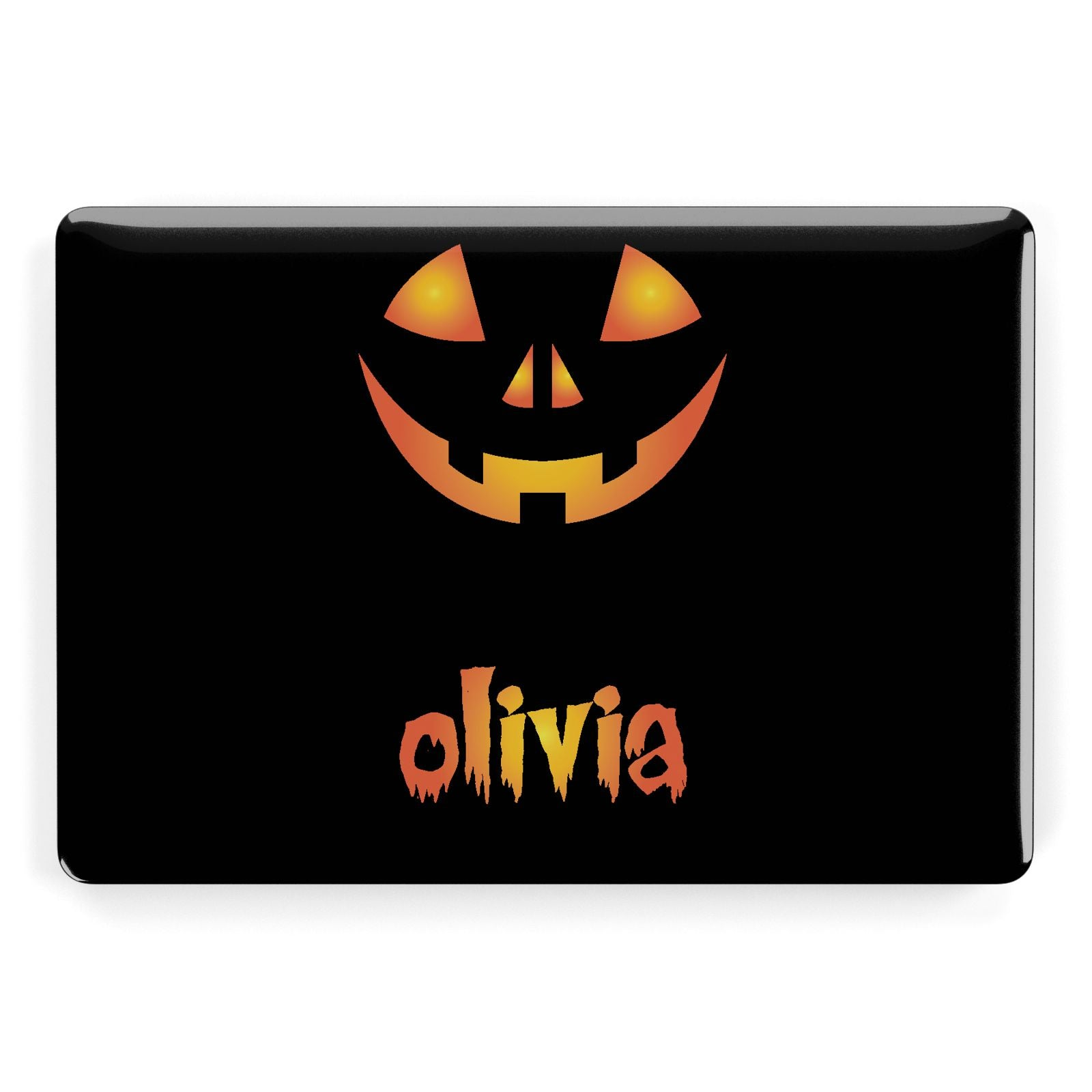 Personalised Pumpkin Face Halloween Apple MacBook Case