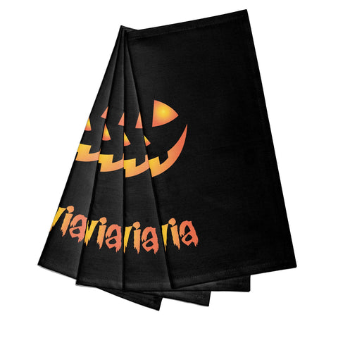 Personalised Pumpkin Face Halloween Napkins