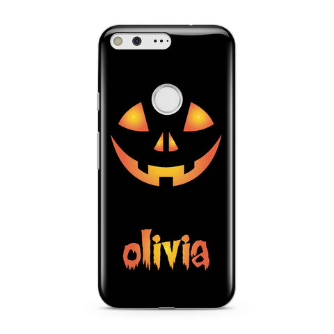 Personalised Pumpkin Face Halloween Google Case