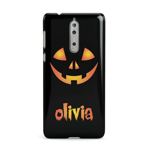 Personalised Pumpkin Face Halloween Nokia Case