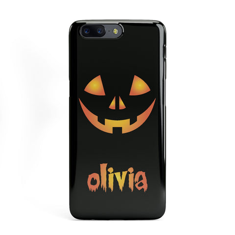Personalised Pumpkin Face Halloween OnePlus Case
