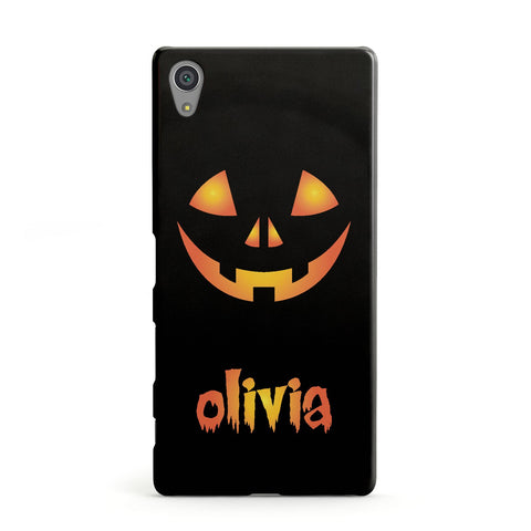 Personalised Pumpkin Face Halloween Sony Case