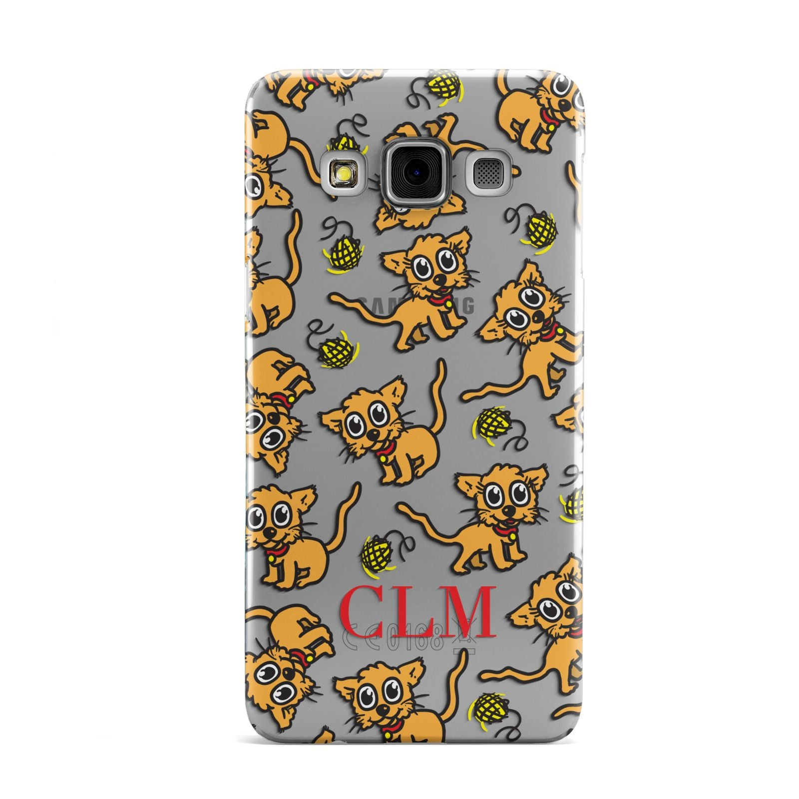Personalised Puppy Initials Clear Samsung Galaxy A3 Case