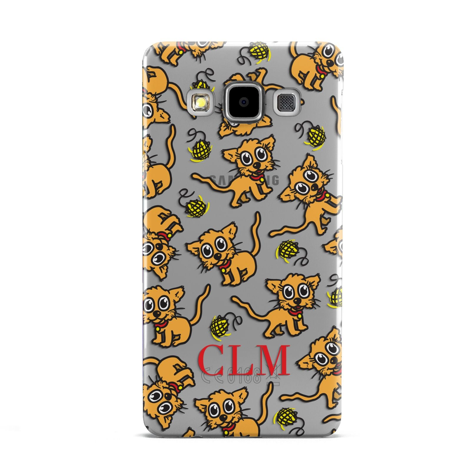Personalised Puppy Initials Clear Samsung Galaxy A5 Case