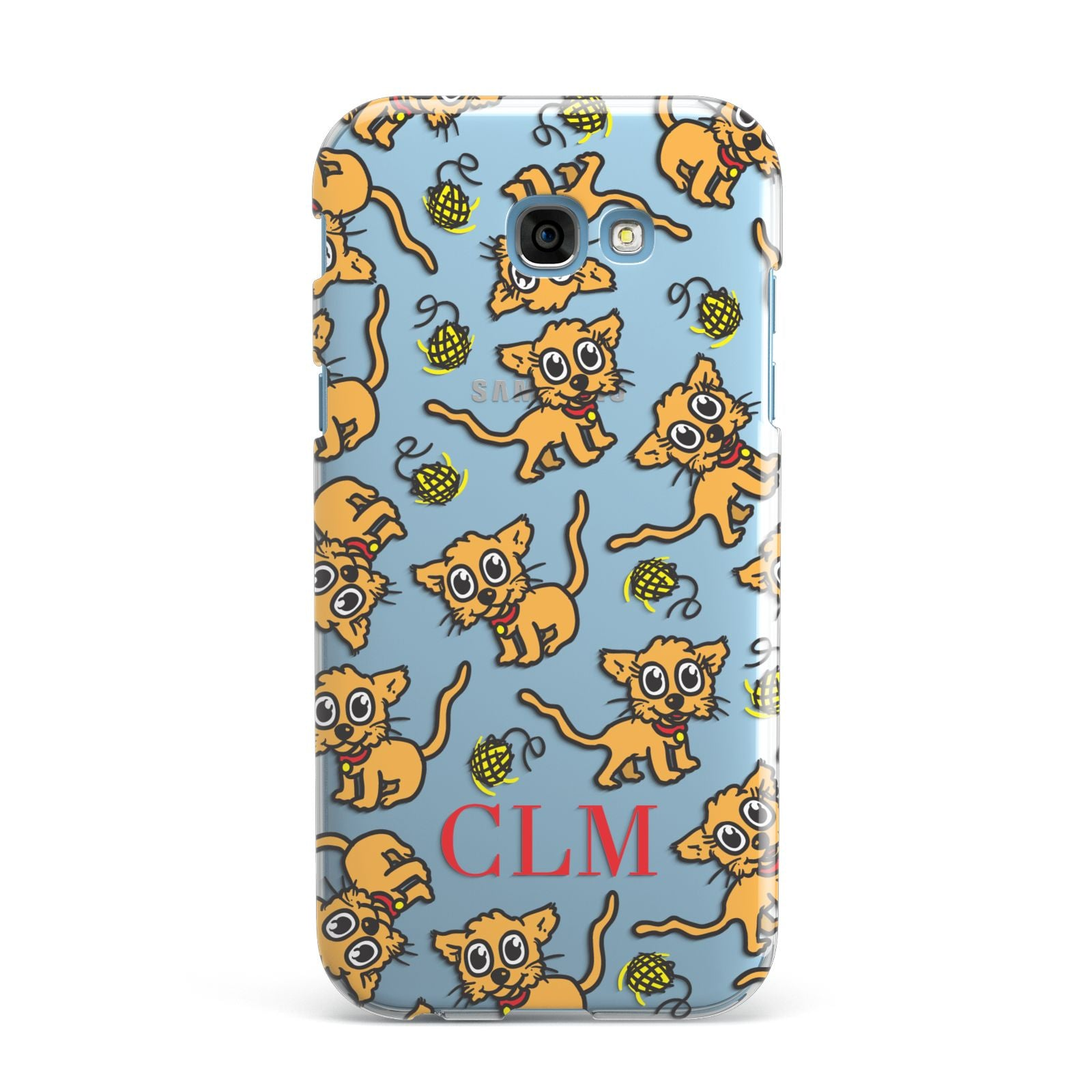 Personalised Puppy Initials Clear Samsung Galaxy A7 2017 Case