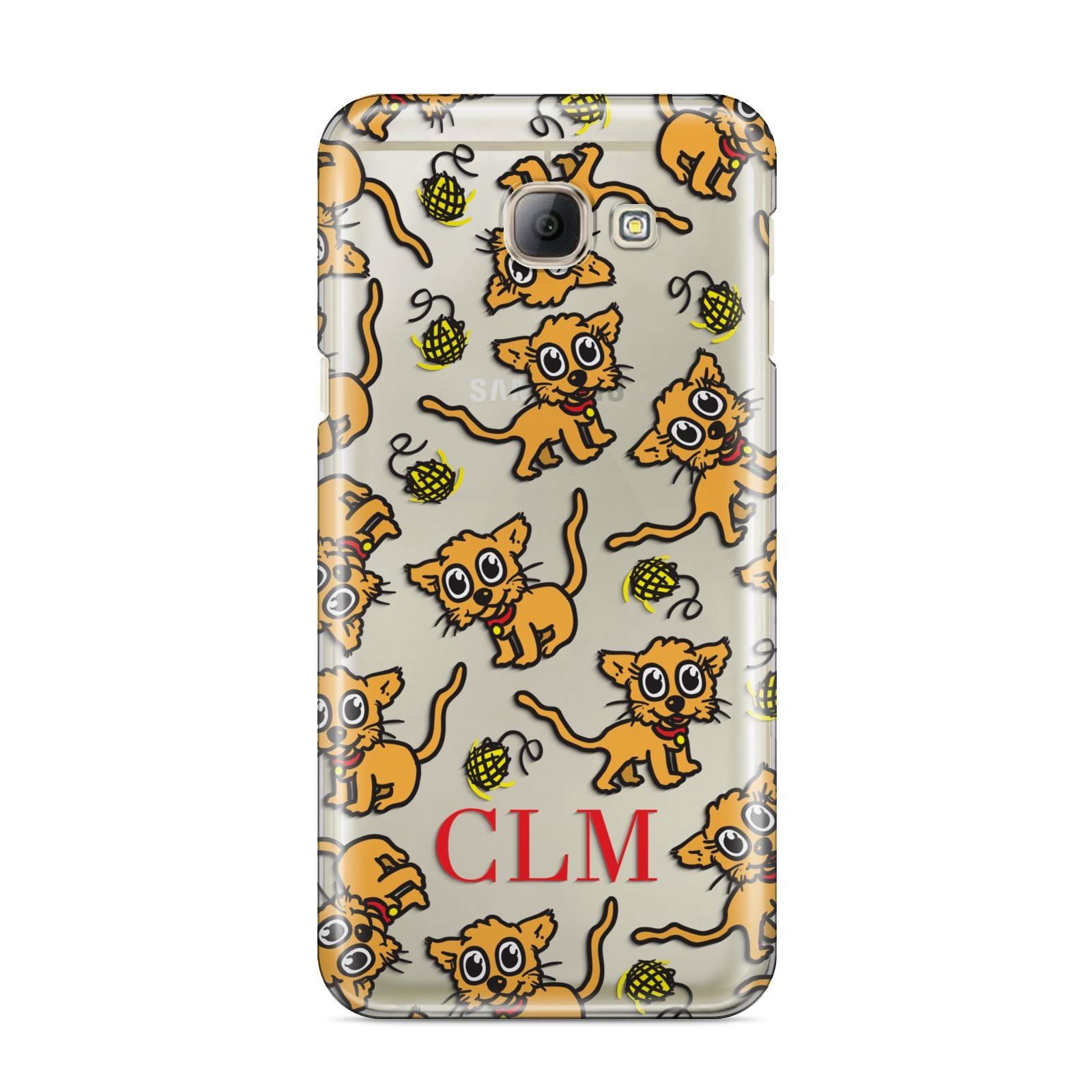 Personalised Puppy Initials Clear Samsung Galaxy A8 2016 Case