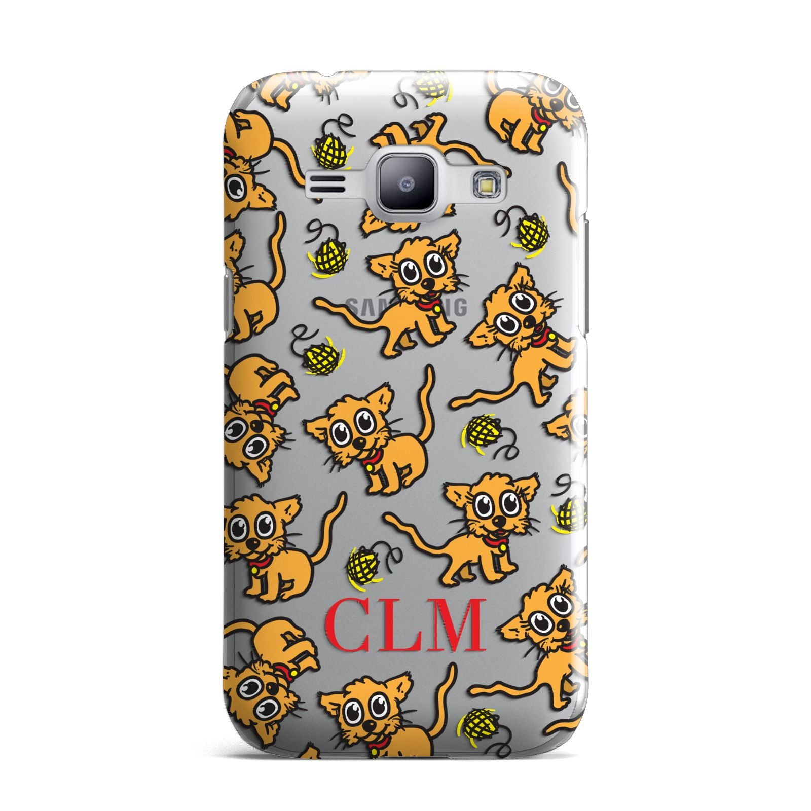 Personalised Puppy Initials Clear Samsung Galaxy J1 2015 Case
