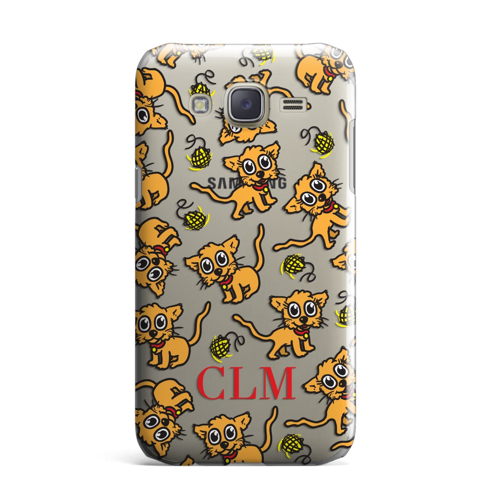 Personalised Puppy Initials Clear Samsung Galaxy J7 Case