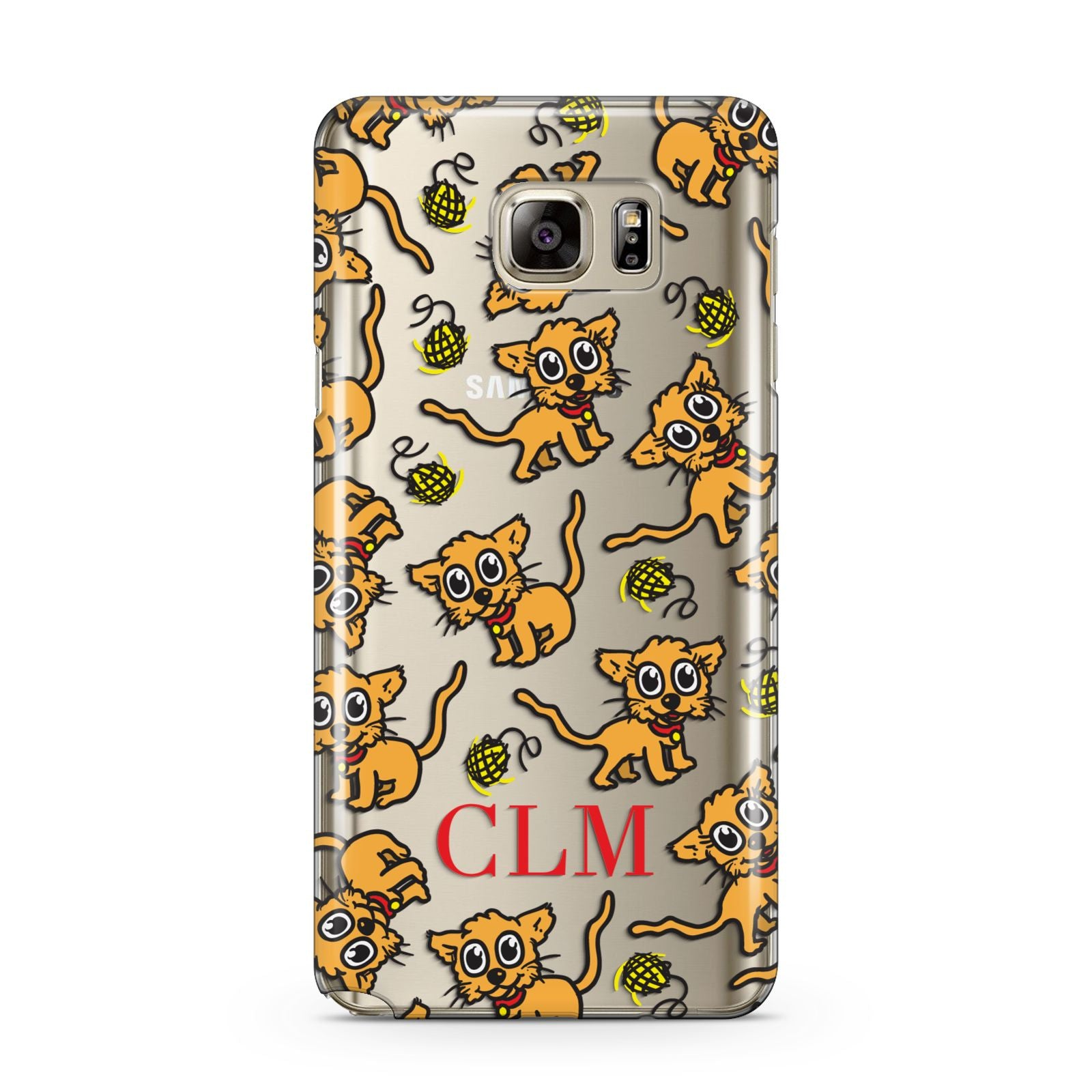 Personalised Puppy Initials Clear Samsung Galaxy Note 5 Case