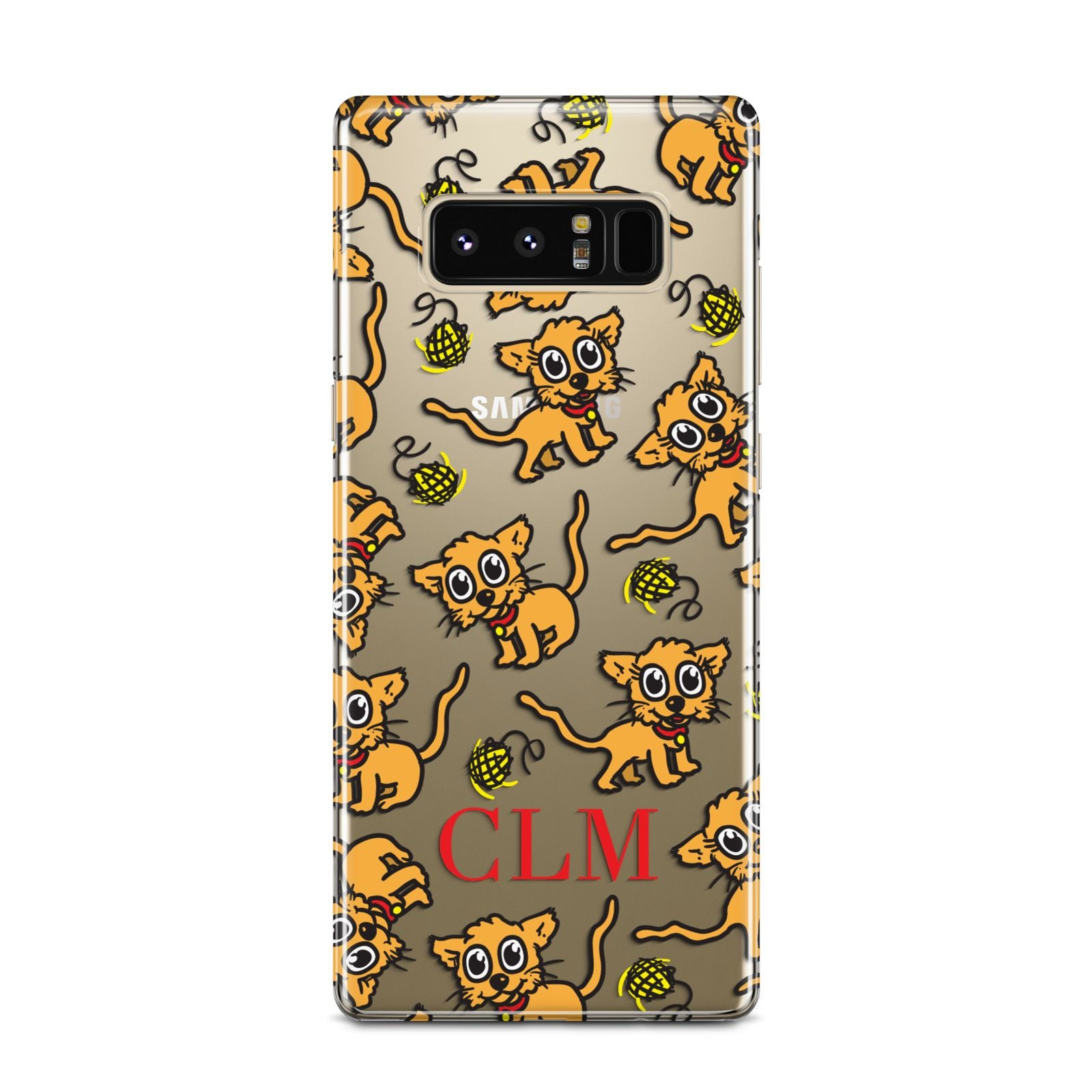 Personalised Puppy Initials Clear Samsung Galaxy Note 8 Case