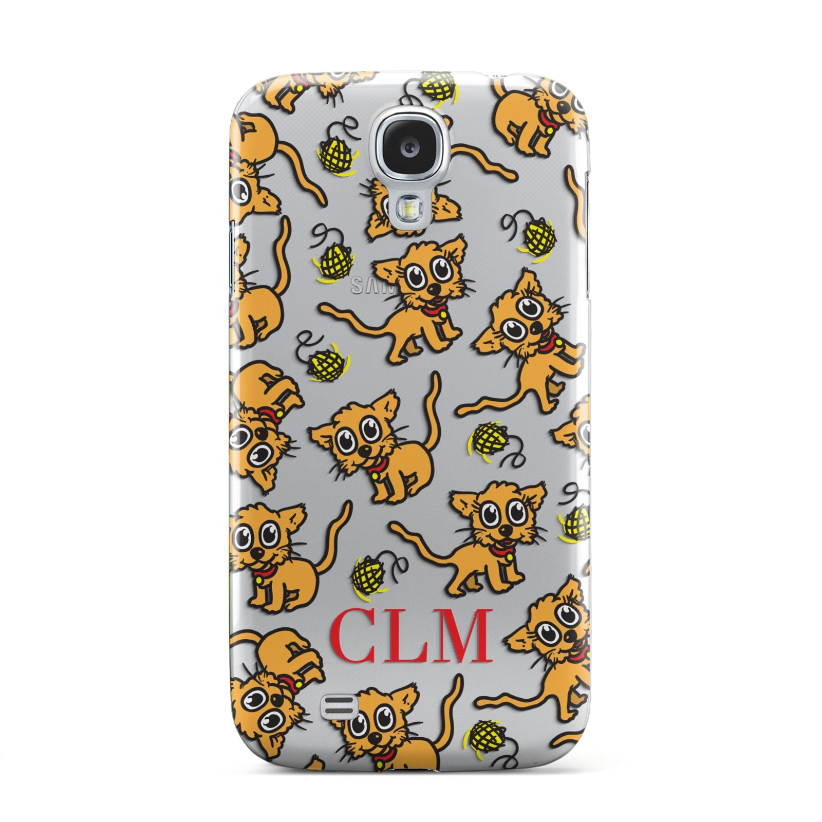 Personalised Puppy Initials Clear Samsung Galaxy S4 Case