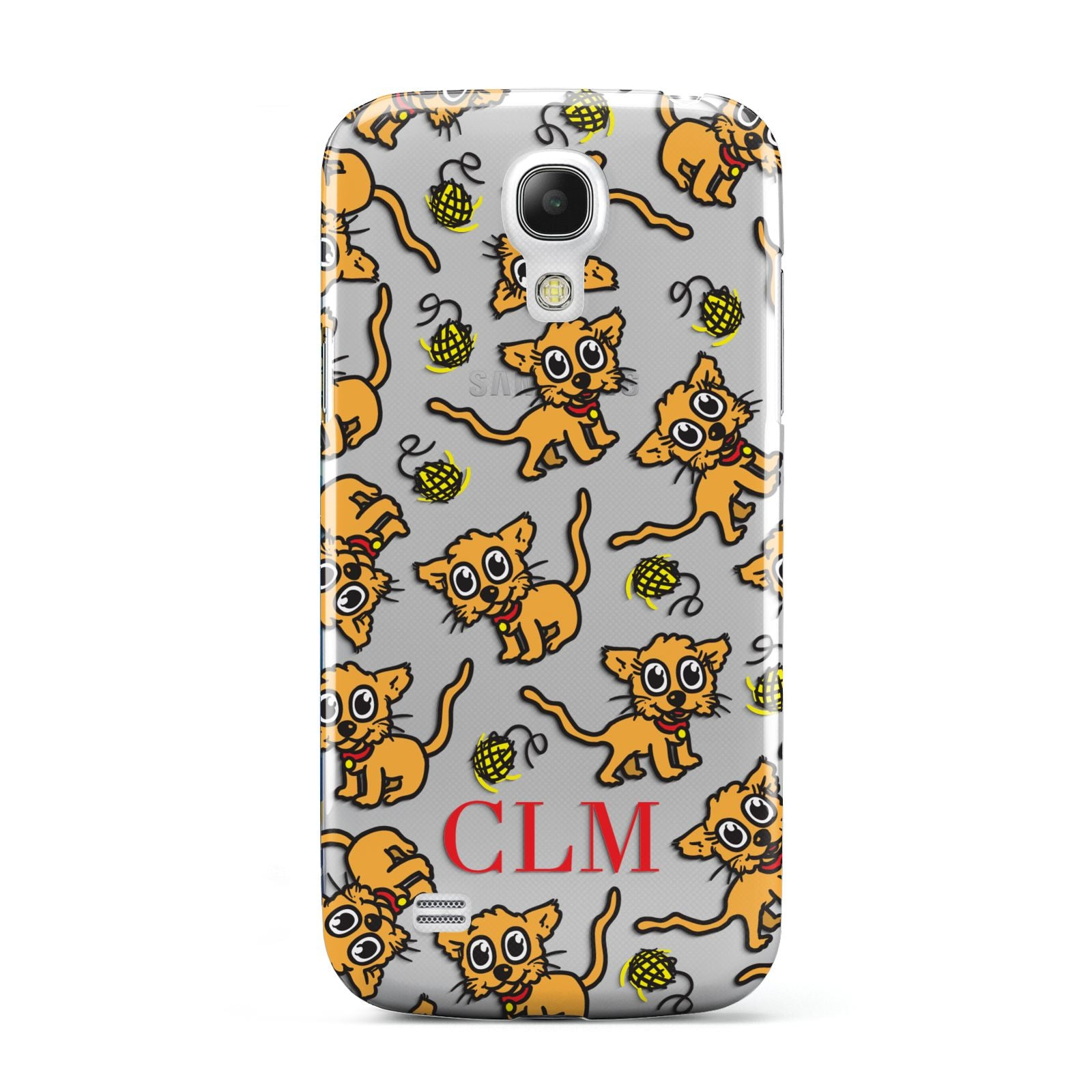 Personalised Puppy Initials Clear Samsung Galaxy S4 Mini Case