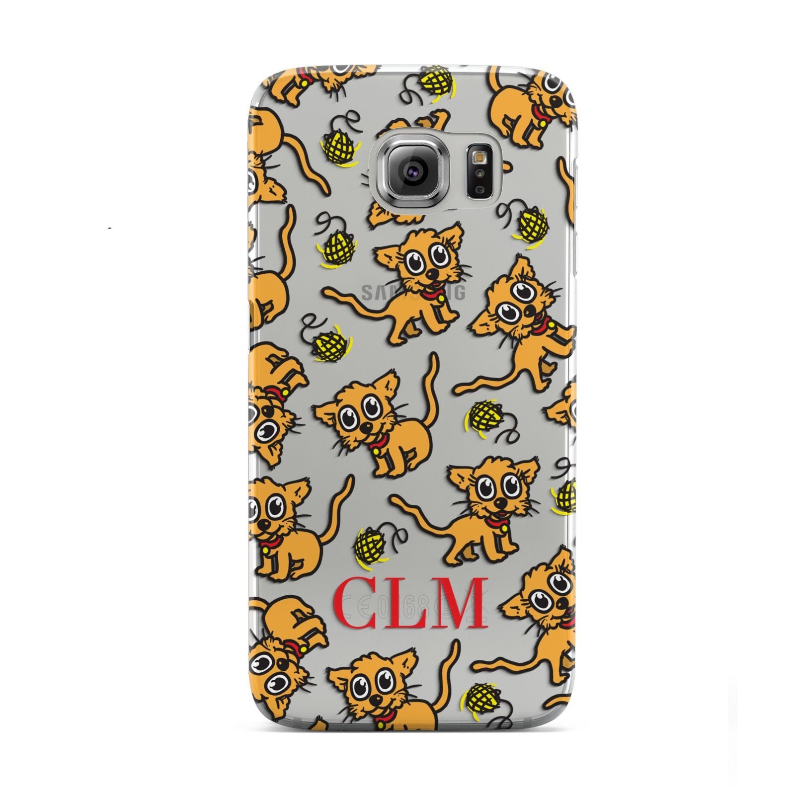 Personalised Puppy Initials Clear Samsung Galaxy S6 Case