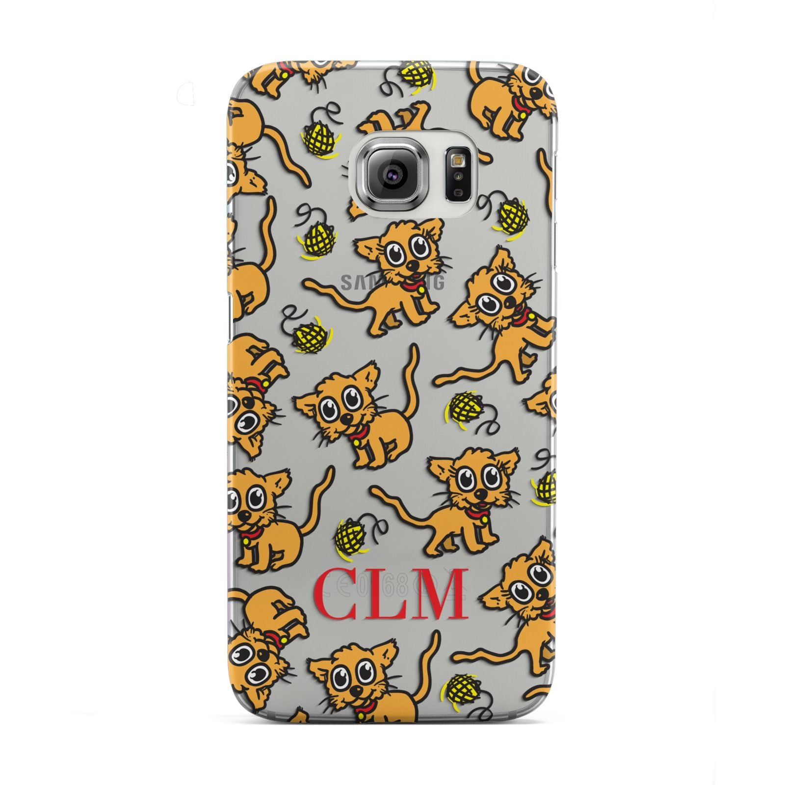 Personalised Puppy Initials Clear Samsung Galaxy S6 Edge Case