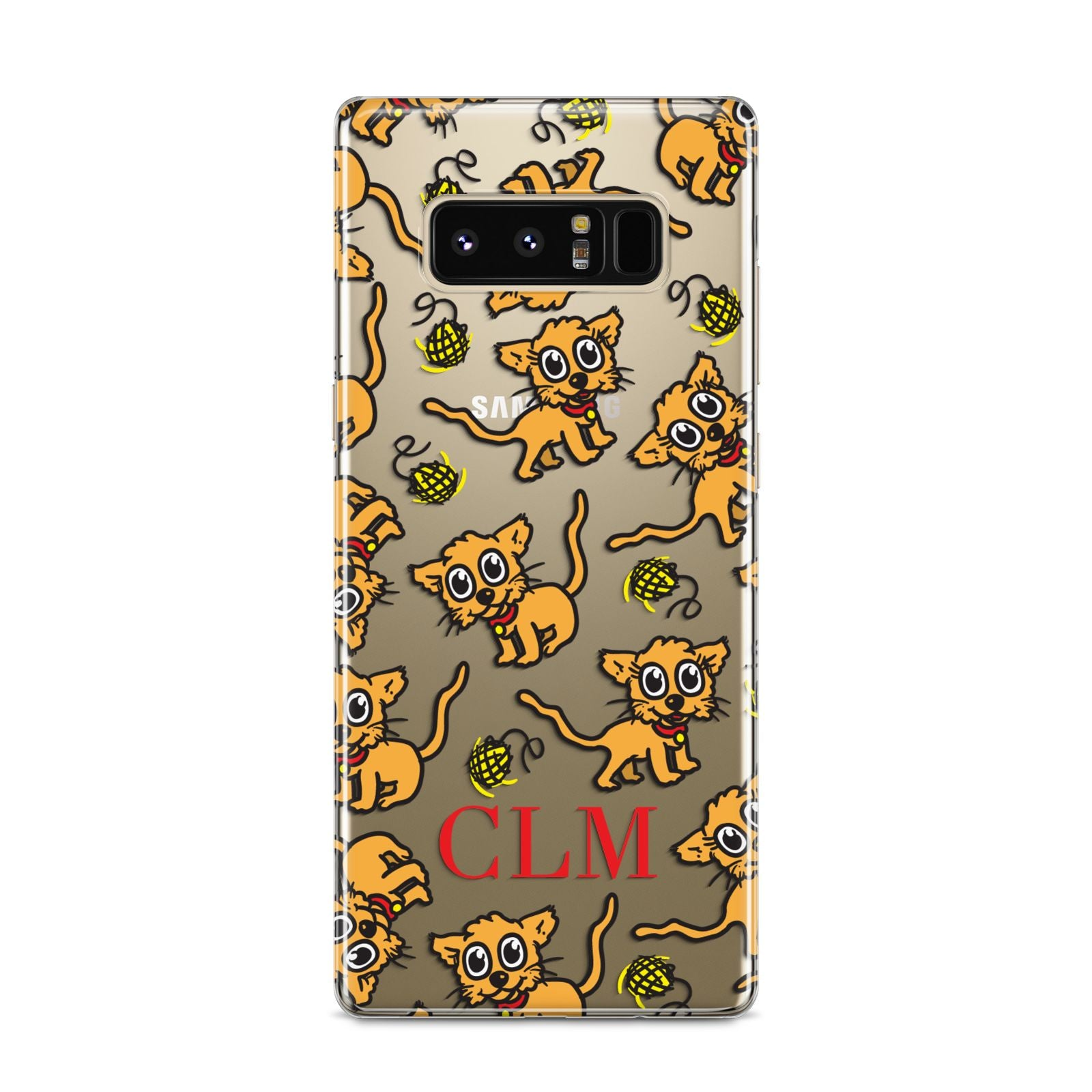 Personalised Puppy Initials Clear Samsung Galaxy S8 Case