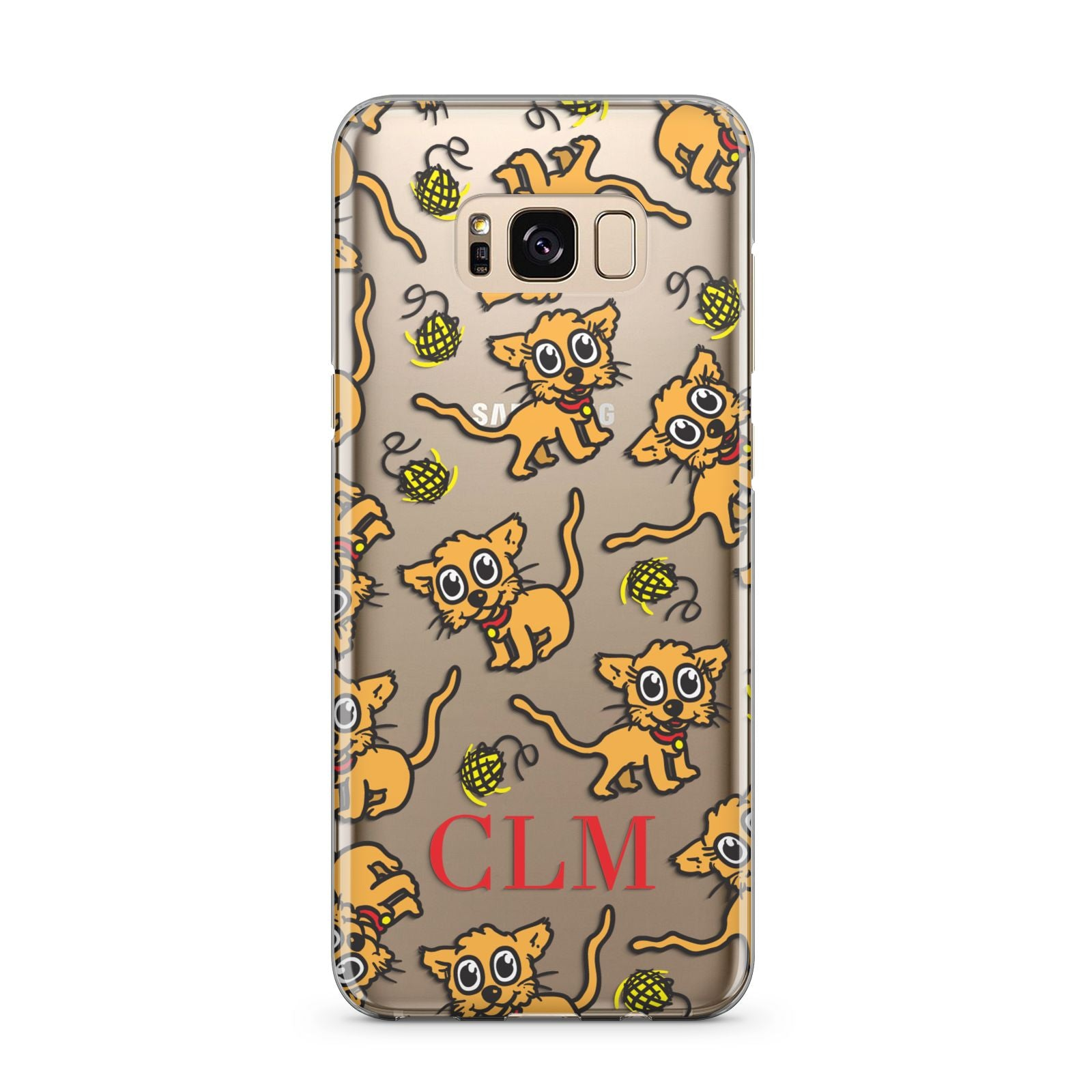 Personalised Puppy Initials Clear Samsung Galaxy S8 Plus Case