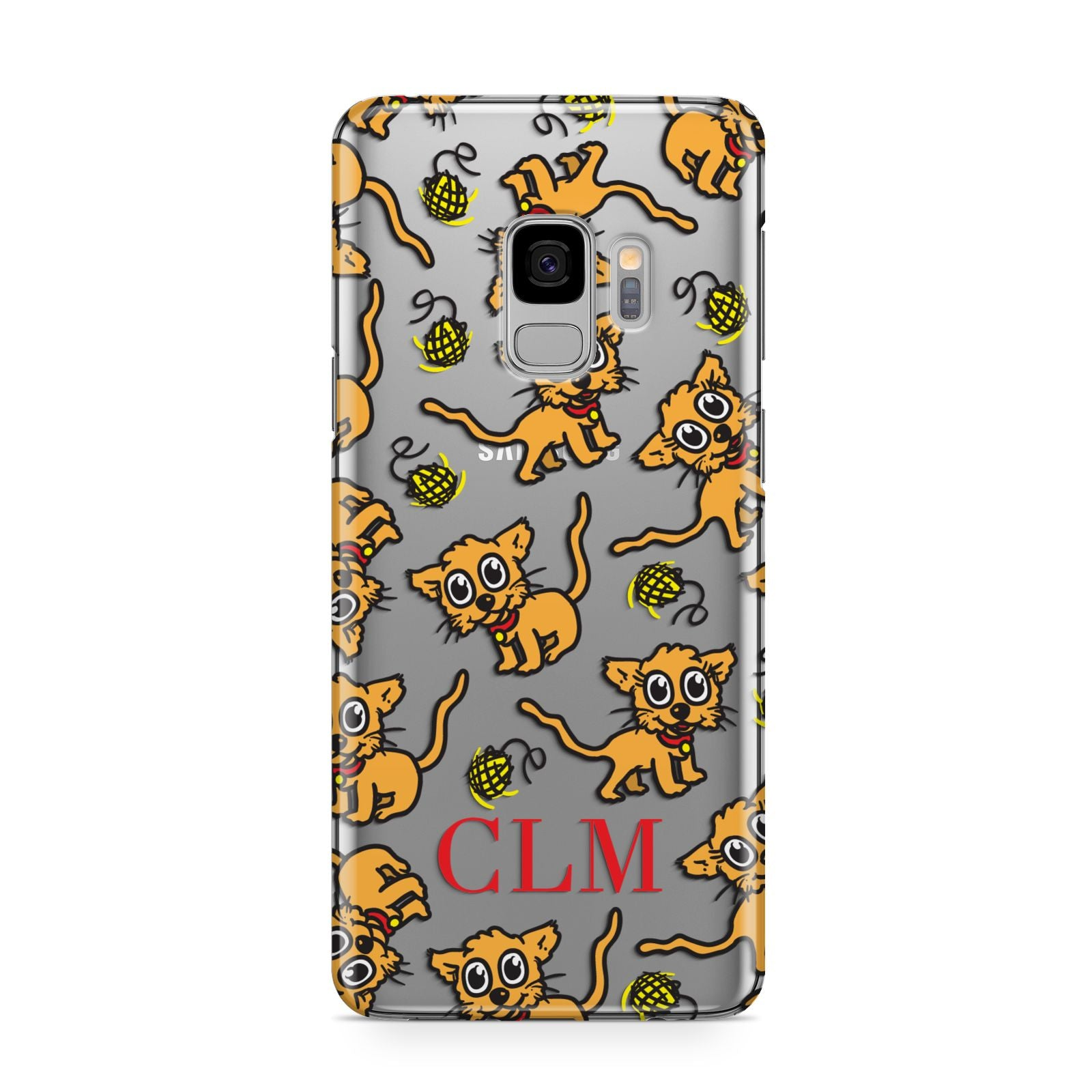 Personalised Puppy Initials Clear Samsung Galaxy S9 Case