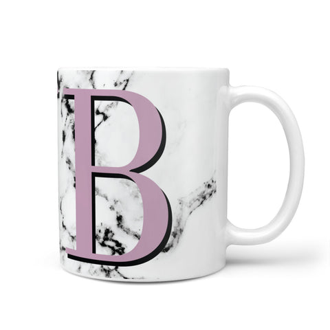 Personalised Purple Big Initials Marble Mug