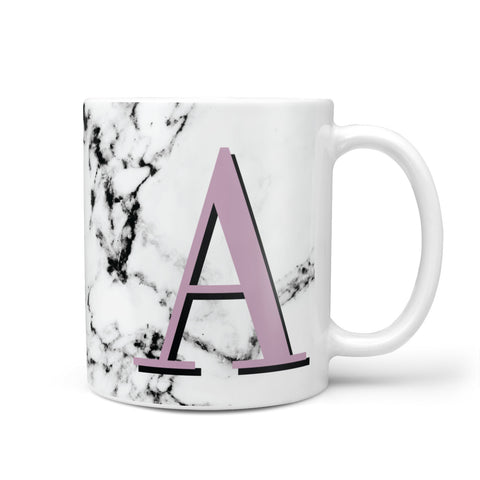 Personalised Purple Single Initial Marble Mug