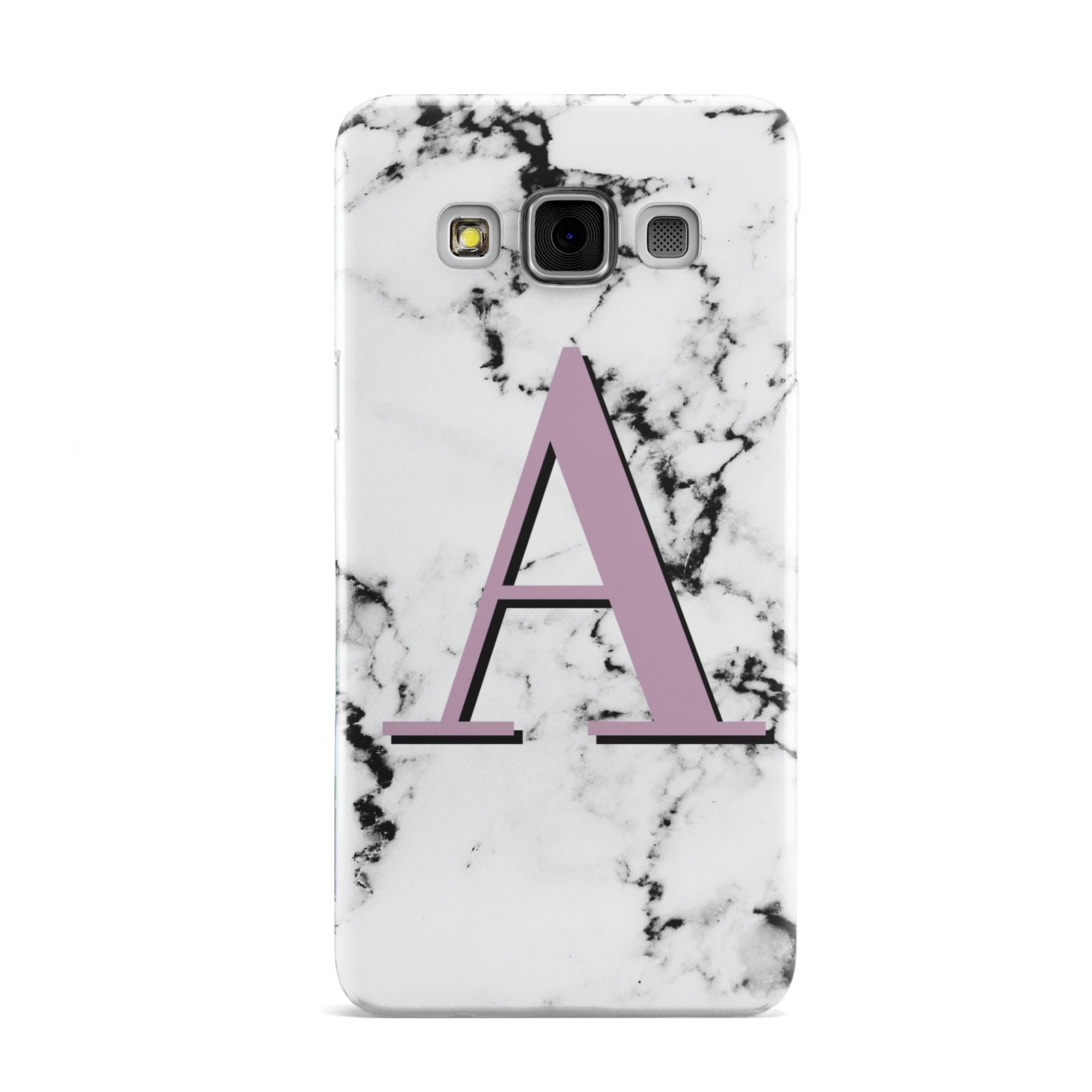 Personalised Purple Single Initial Marble Samsung Galaxy A3 Case