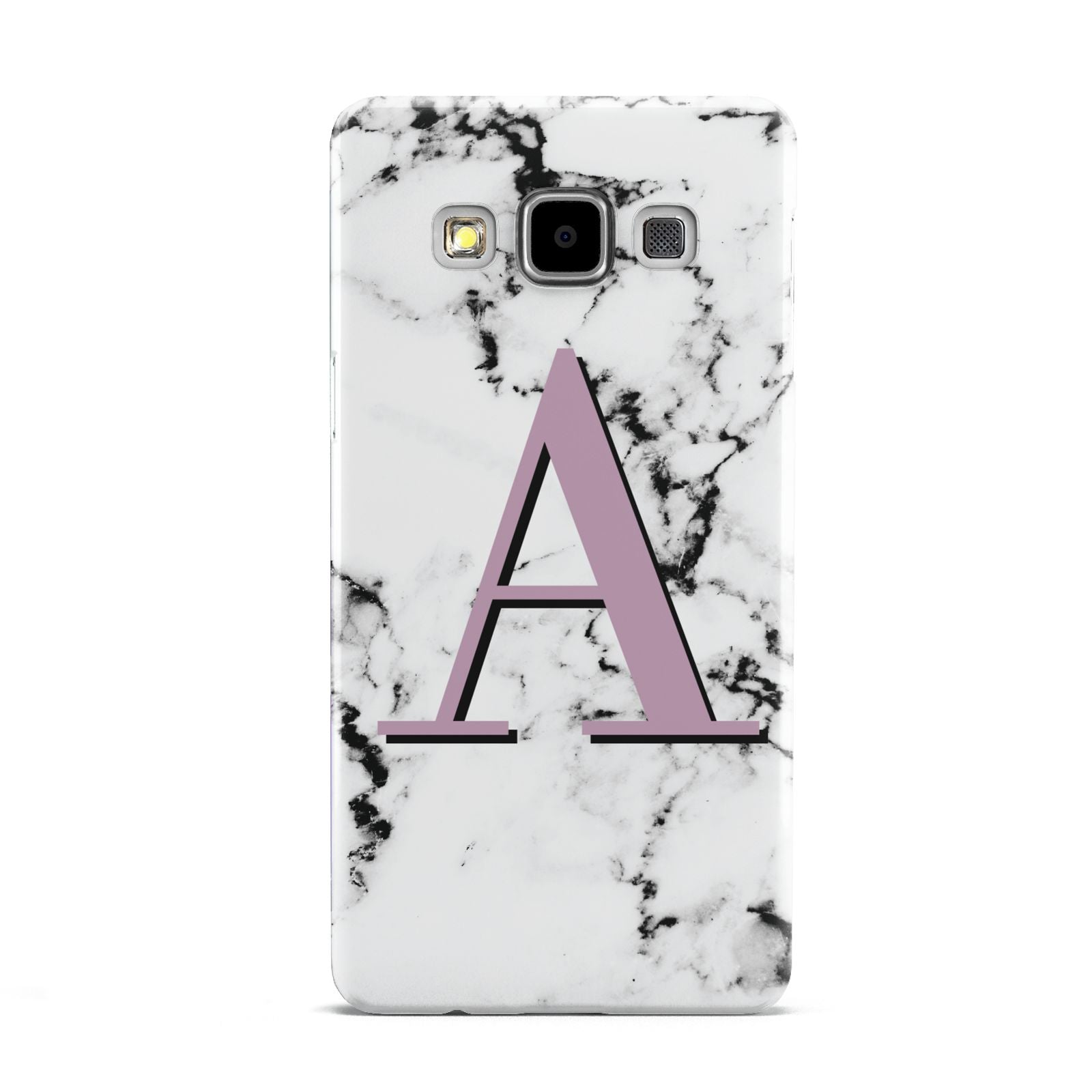 Personalised Purple Single Initial Marble Samsung Galaxy A5 Case