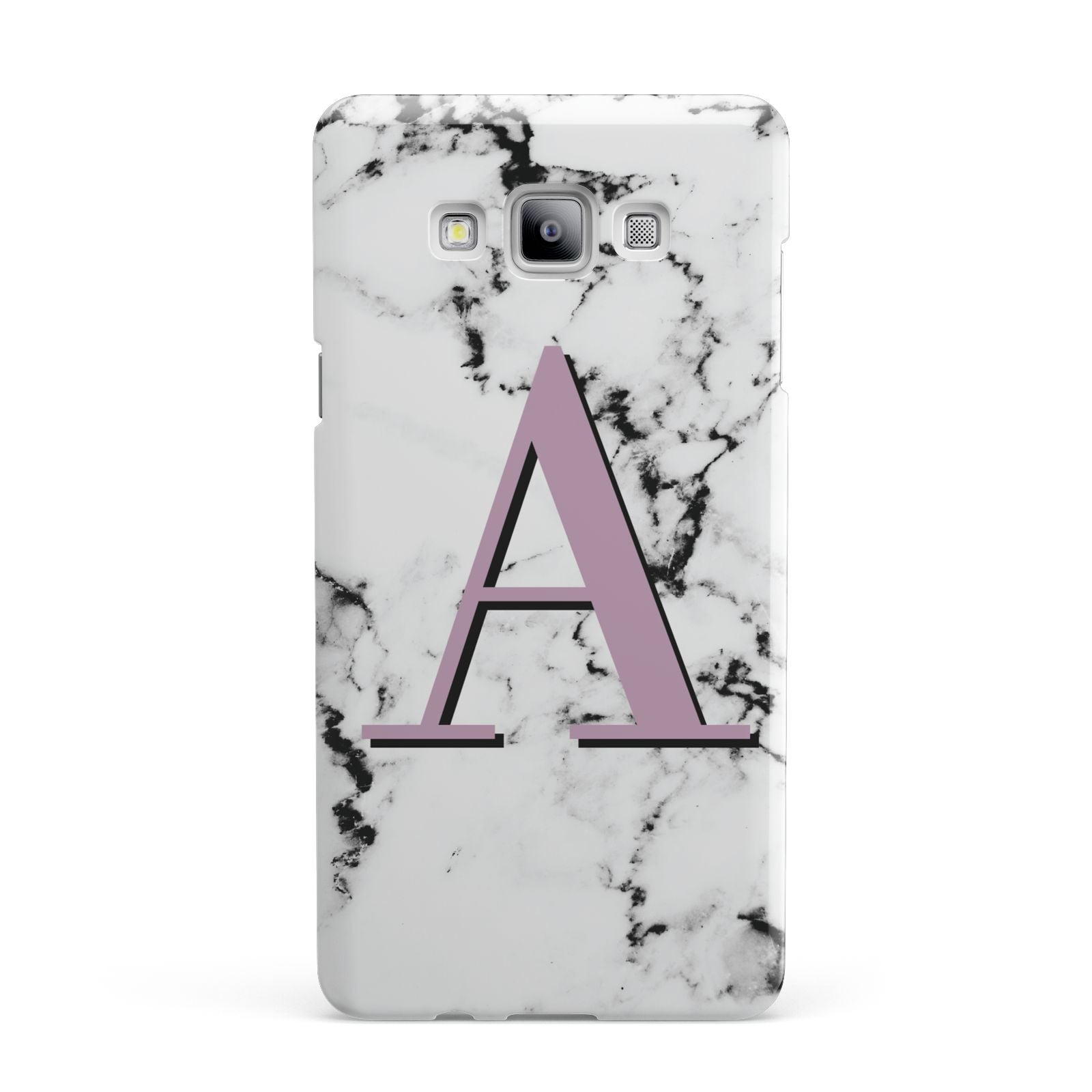 Personalised Purple Single Initial Marble Samsung Galaxy A7 2015 Case