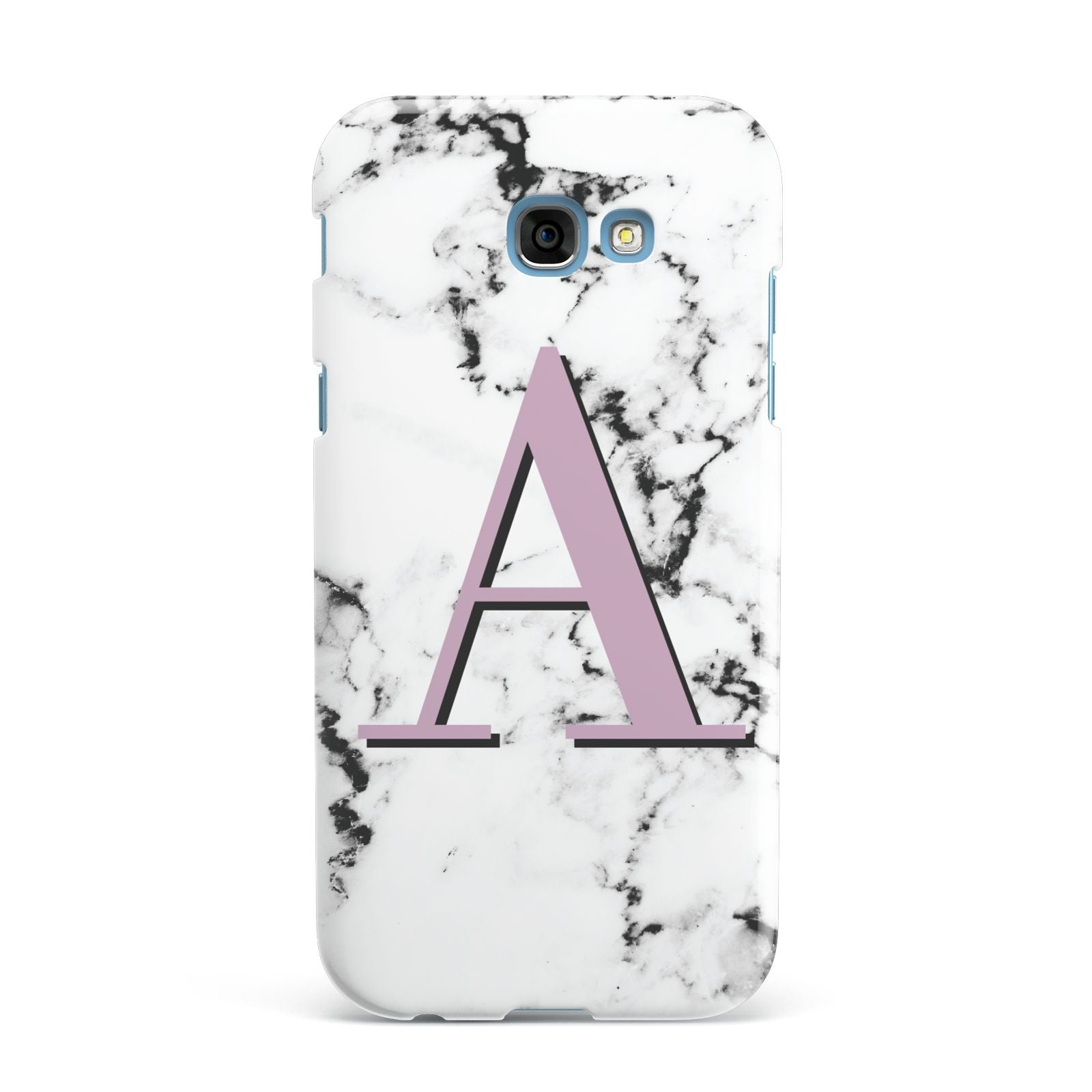 Personalised Purple Single Initial Marble Samsung Galaxy A7 2017 Case