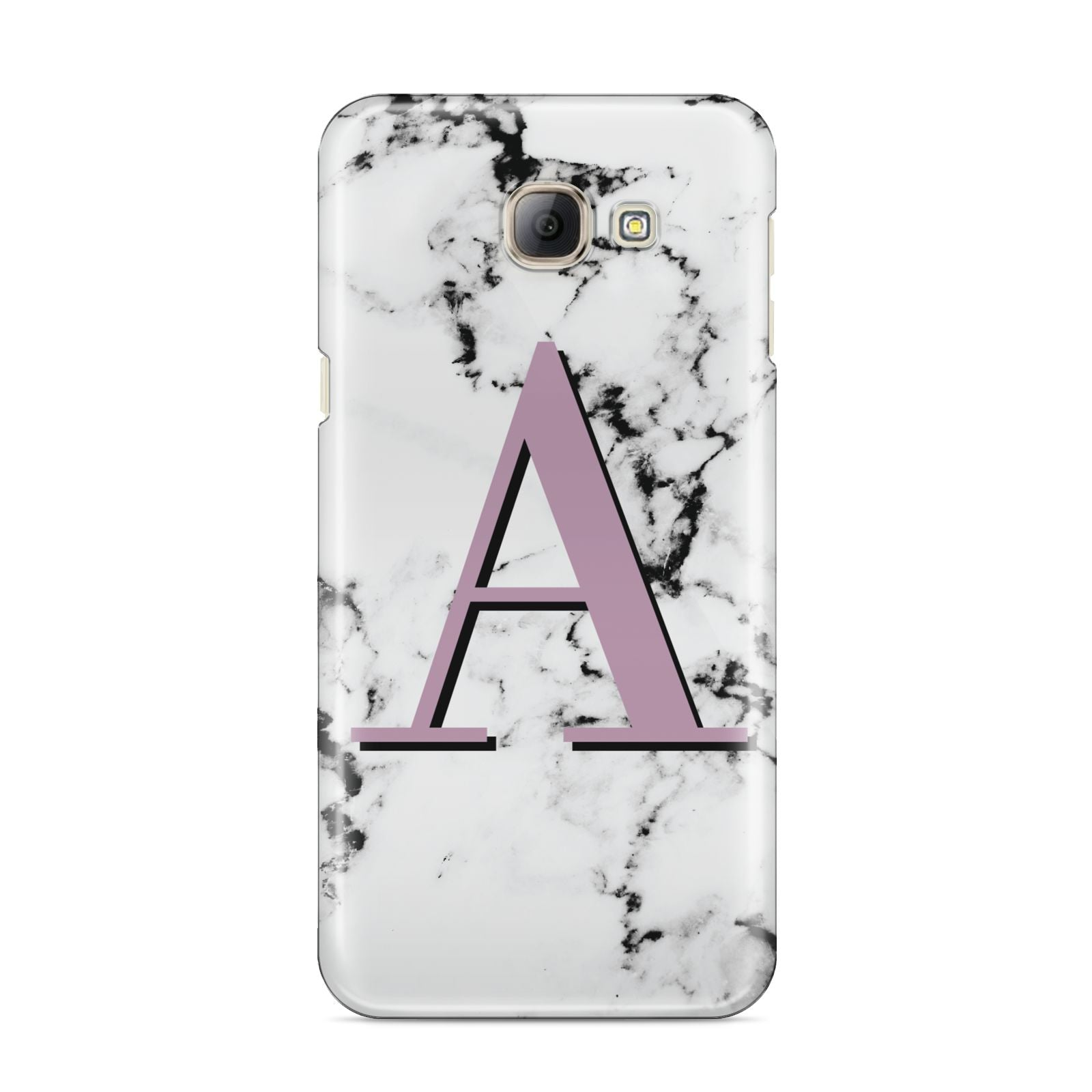 Personalised Purple Single Initial Marble Samsung Galaxy A8 2016 Case