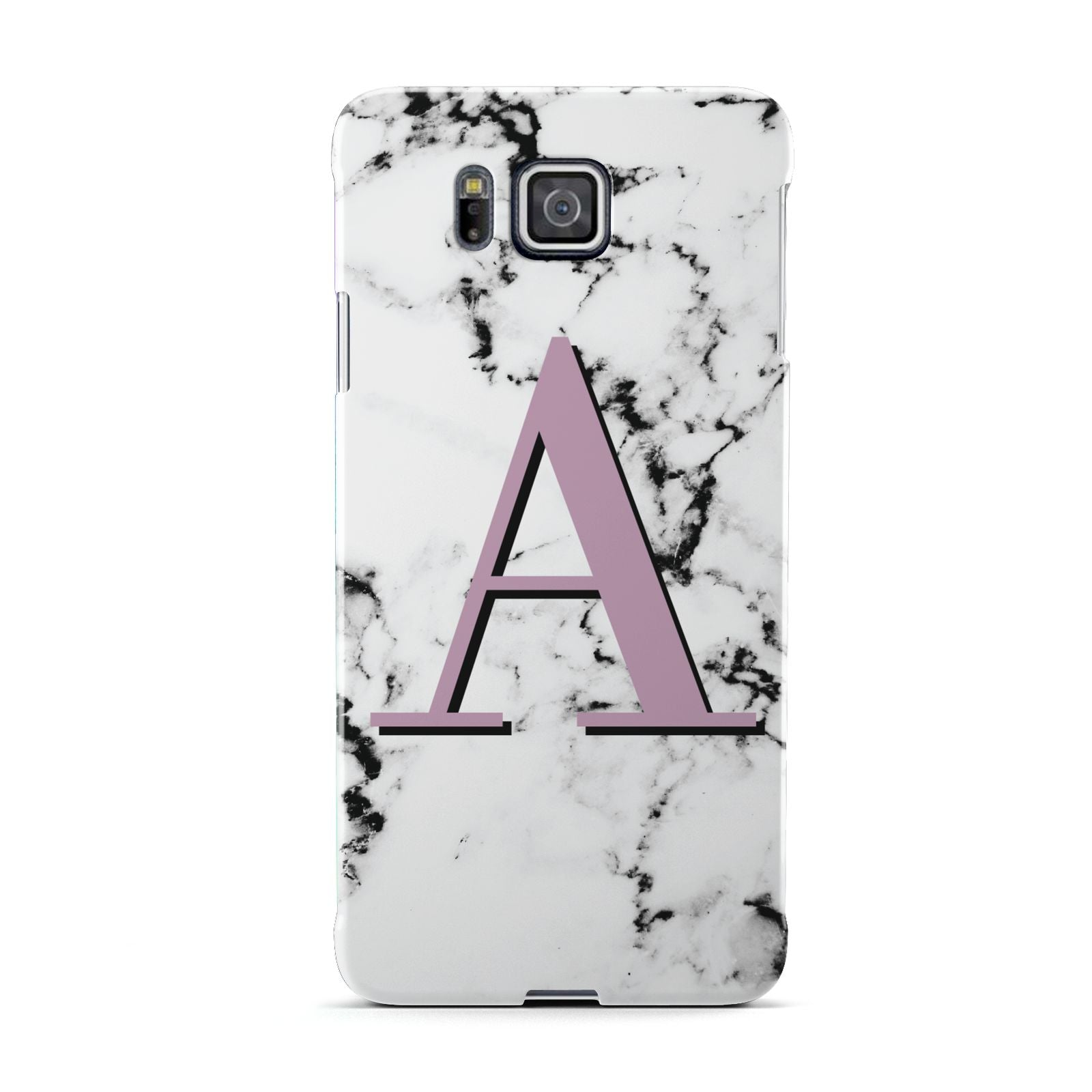 Personalised Purple Single Initial Marble Samsung Galaxy Alpha Case